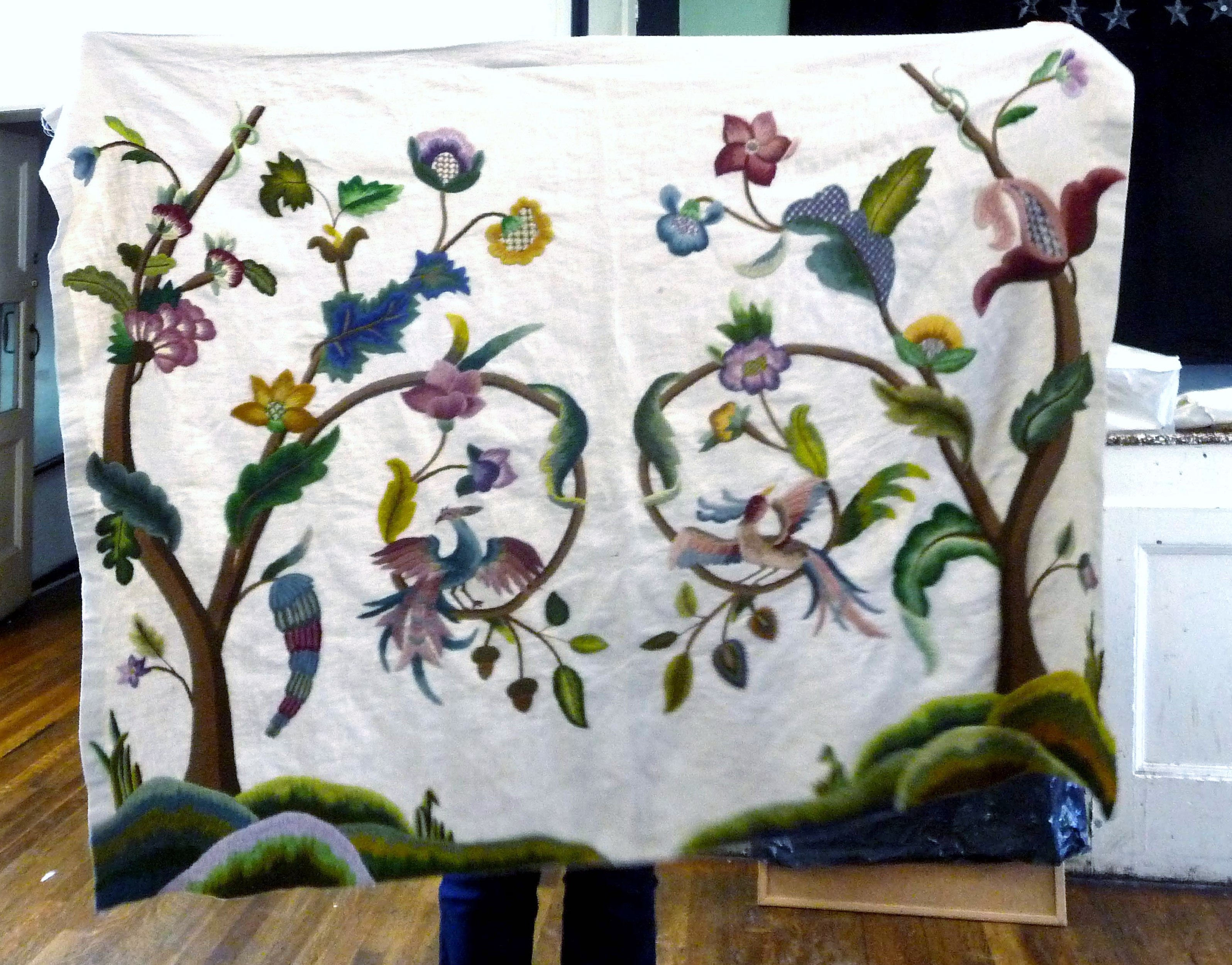 large embroidered panel by Phillipa Turnbull