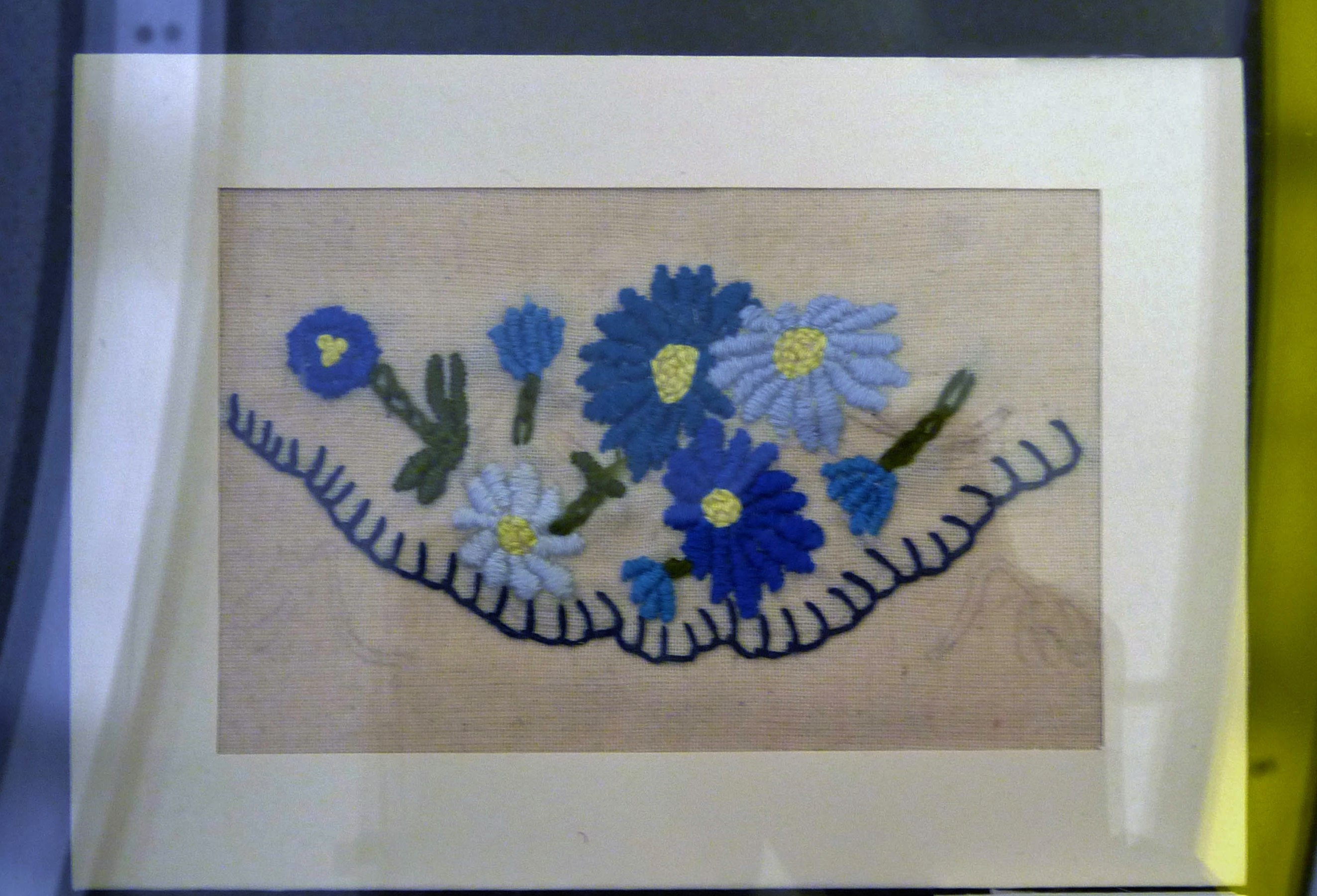 Embroidered postcard by Sophie Forse