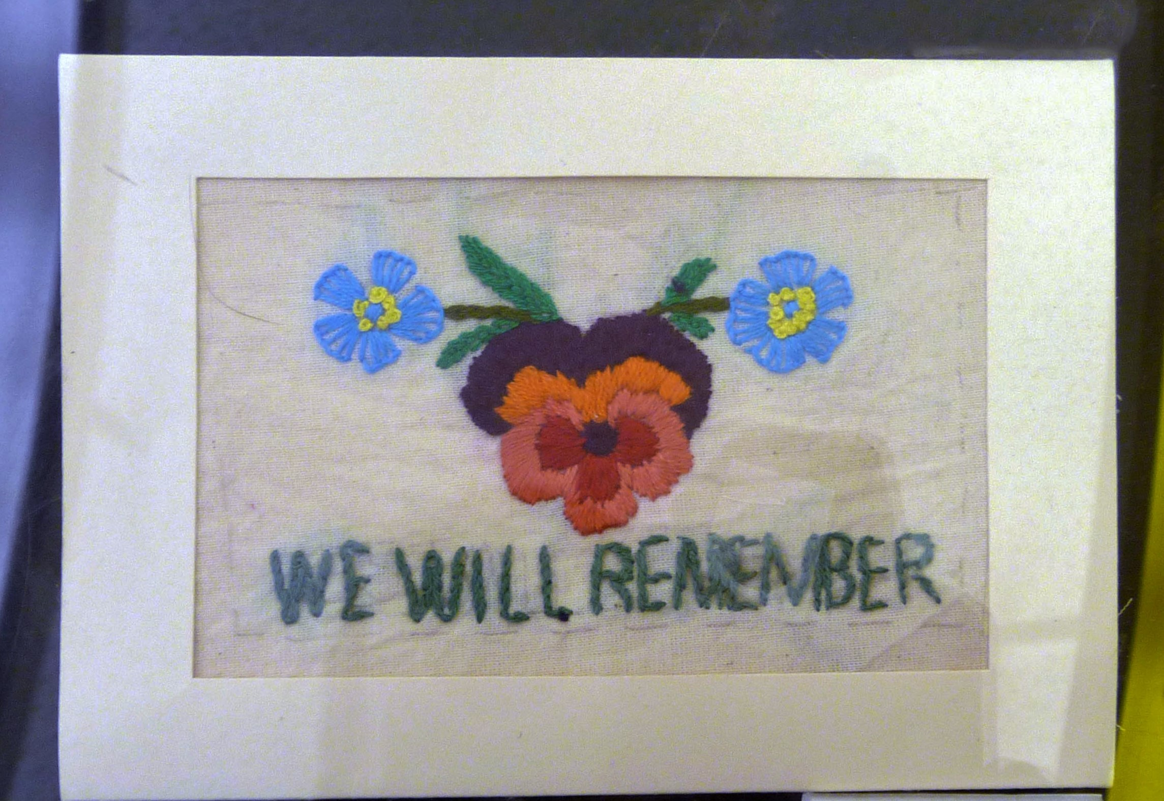 Embroidered postcard by Vicky Williams