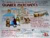slide showing a panel from the Quaker Tapestry
