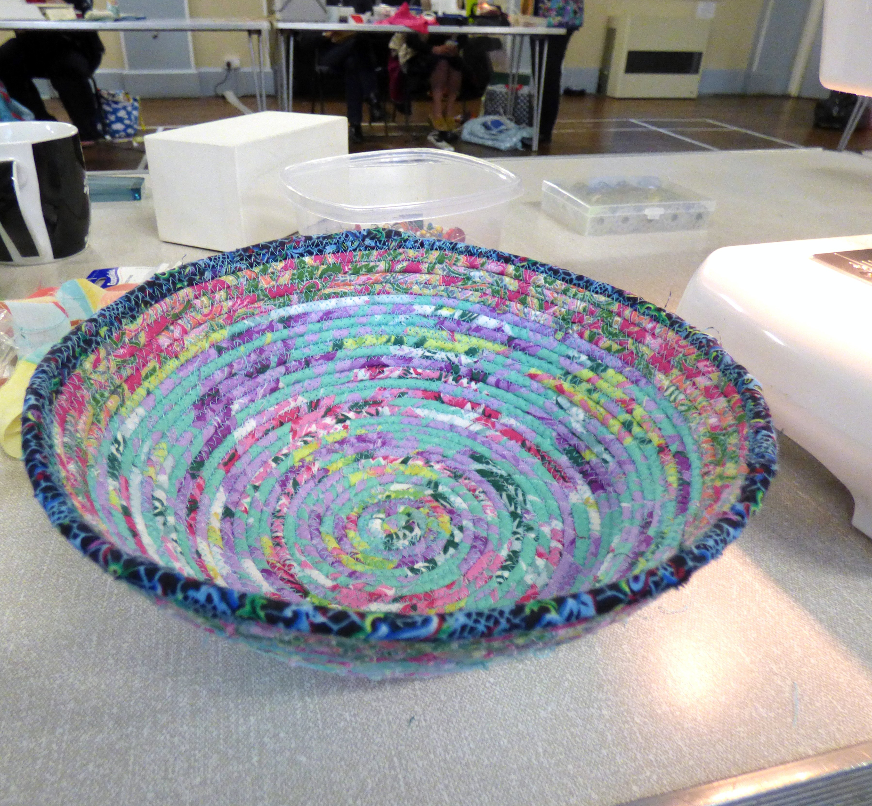 "Student's work at  ""Rag Bowl"" workshop with Josephine Ormerod, November 2018"