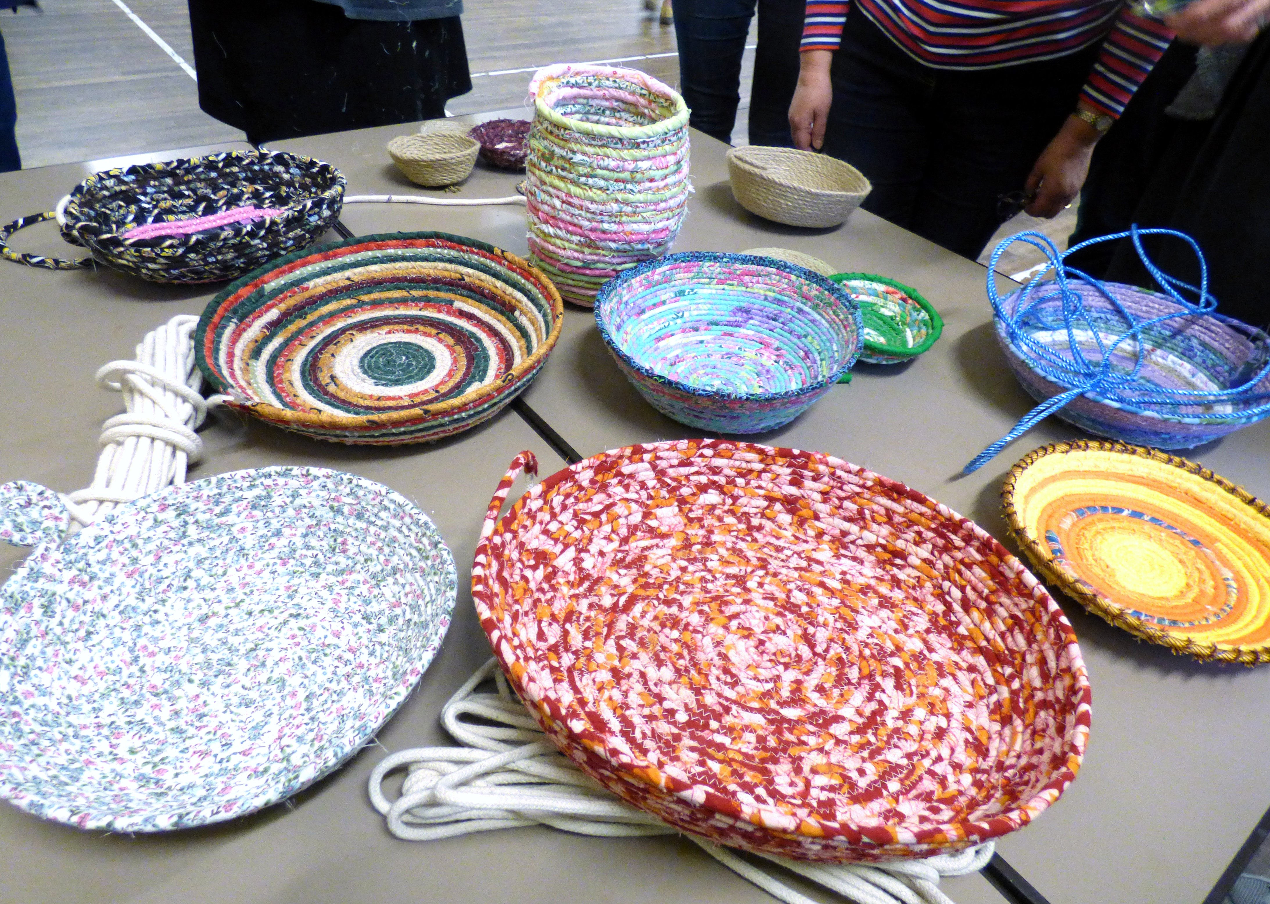 """at the end of the day  """"Rag Bowl"""" workshop with Josephine Ormerod, November 2018"""