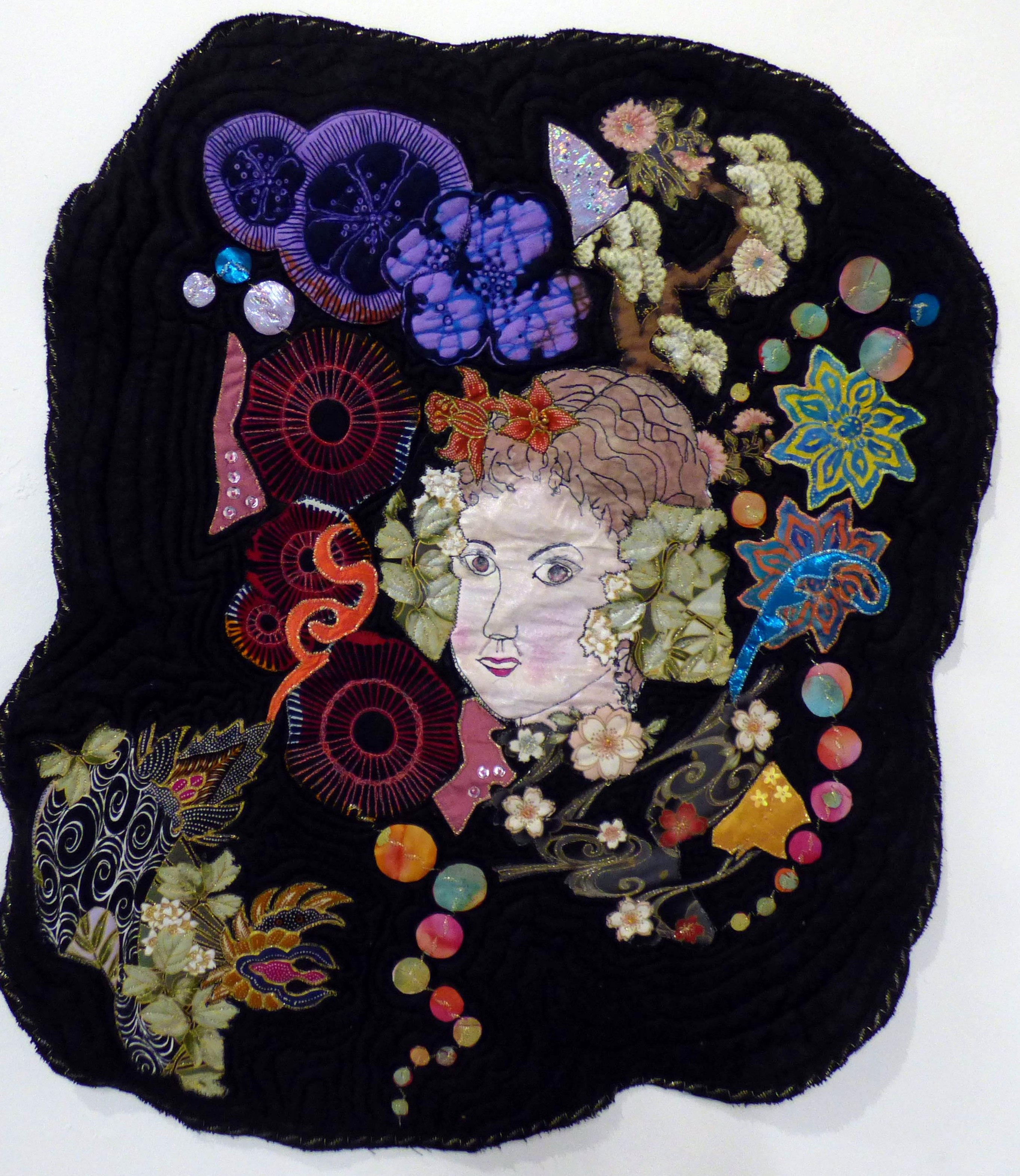 GIRL AMONGST THE FLOWERS by Sue Chisnall-Sumner, Natural Progression Group, July 2021