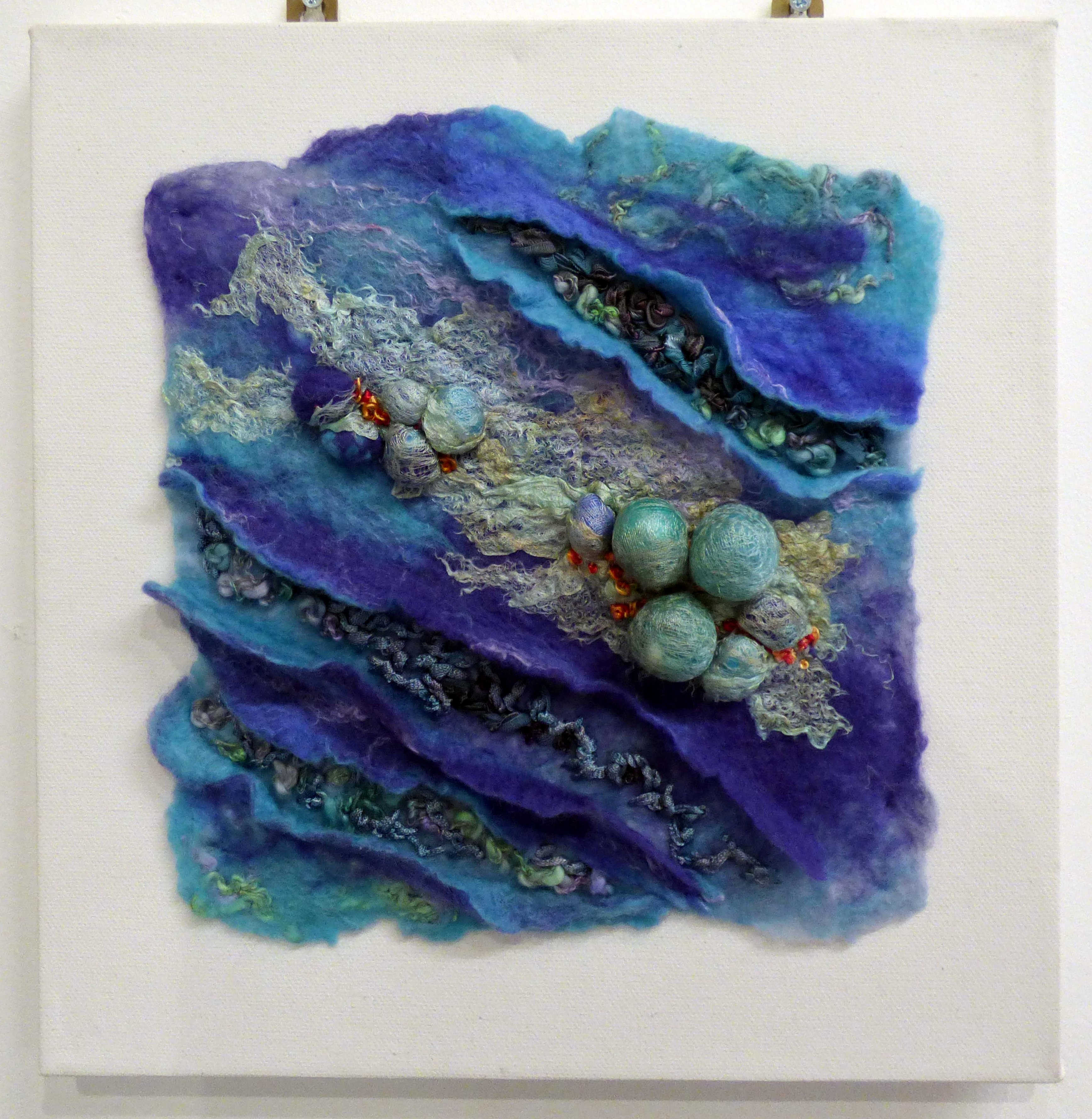 BLUE GLASS by Pat Bean, Natural Progression Group, July 2021