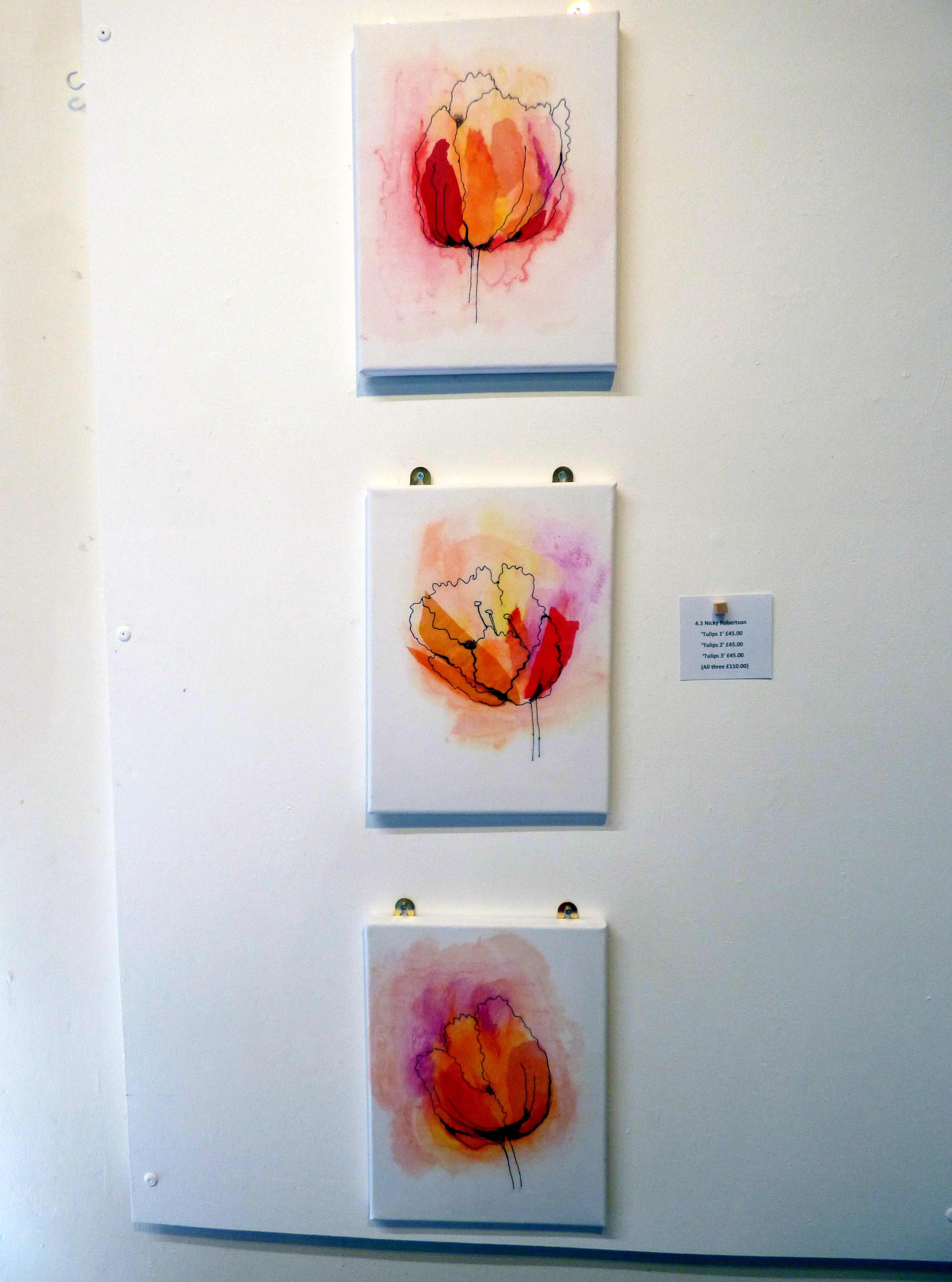 TULIPS 1,2,3 by Nicky Robertson, Natural Progression Group, July 2021