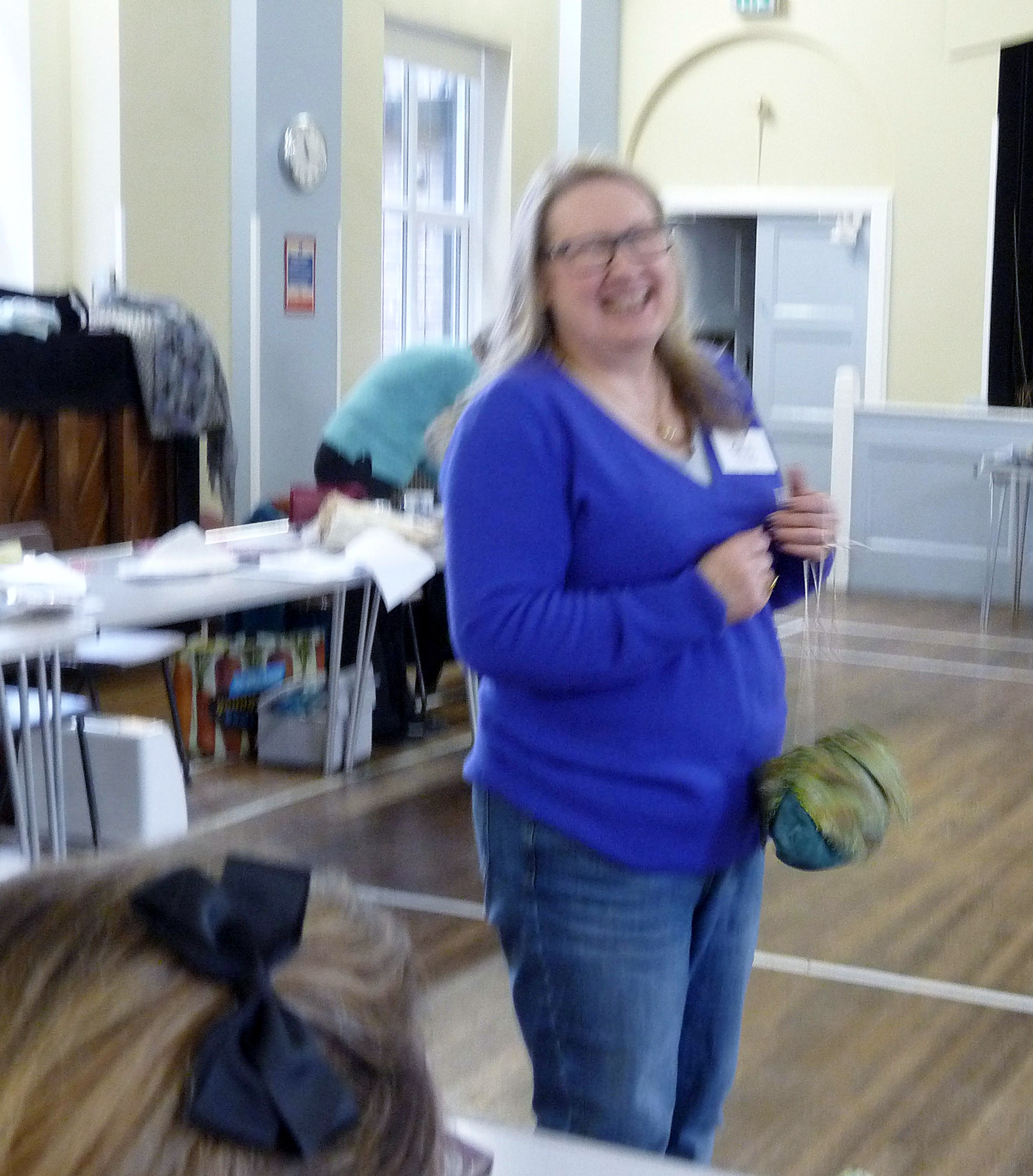 Gill Roberts, our tutor at Ravishing Reticules workshop