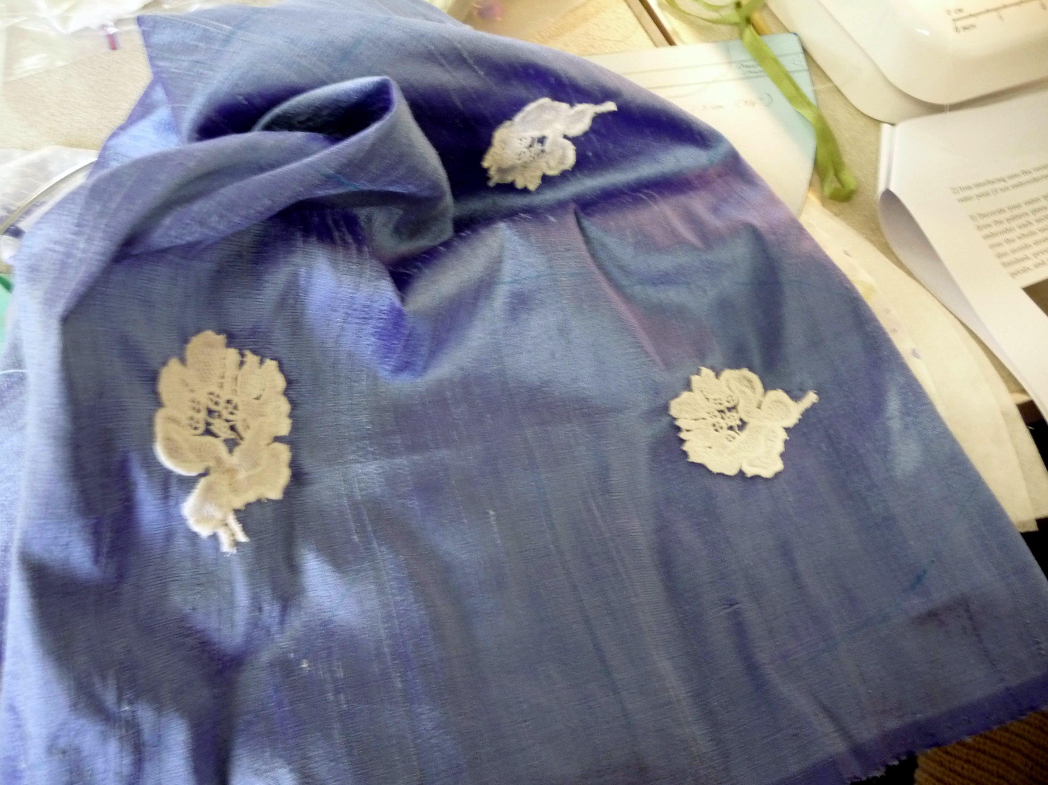 detail of embellishment at Ravishing Reticules workshop