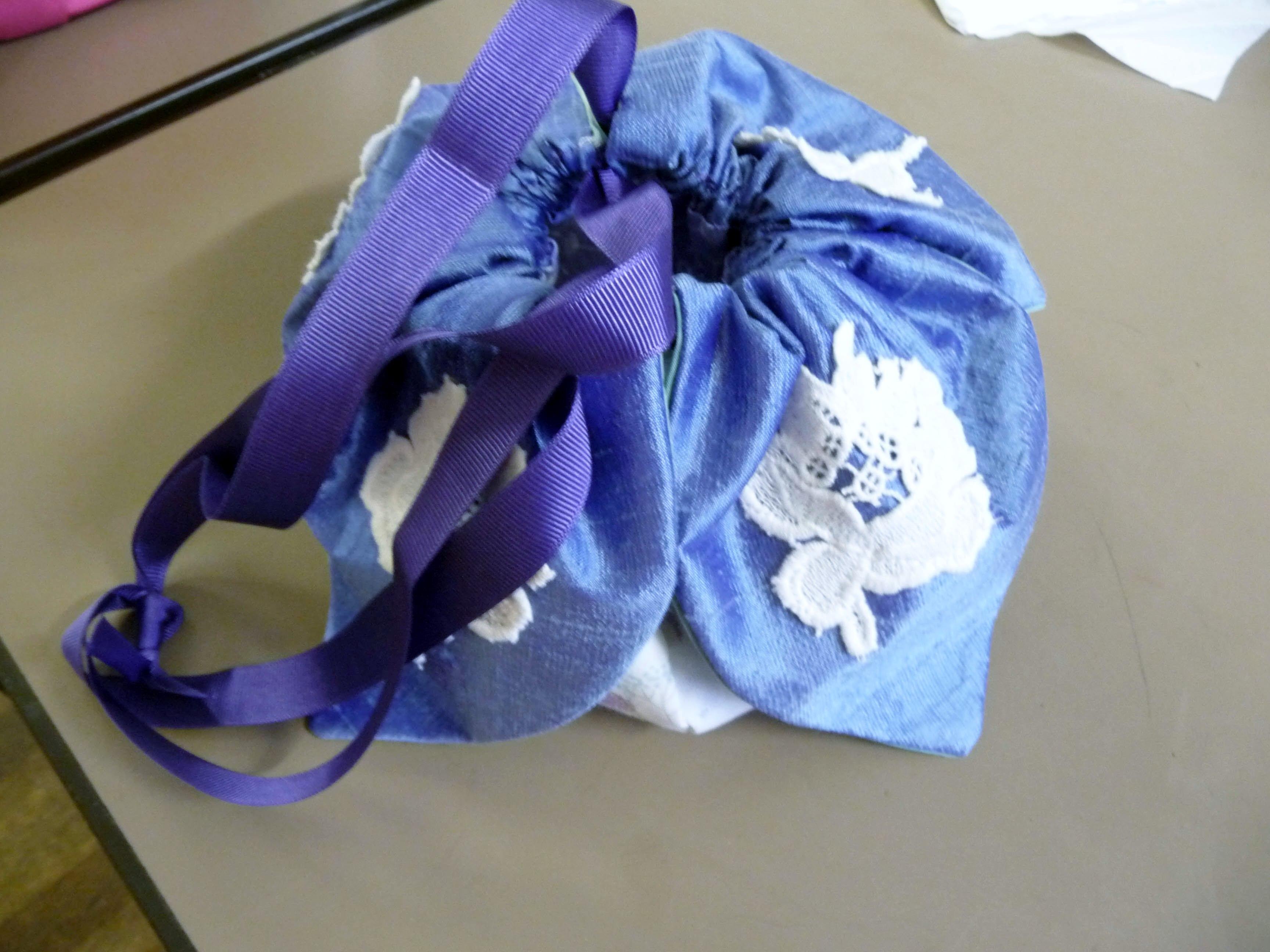 Mal's completed bag at Ravishing Reticules workshop