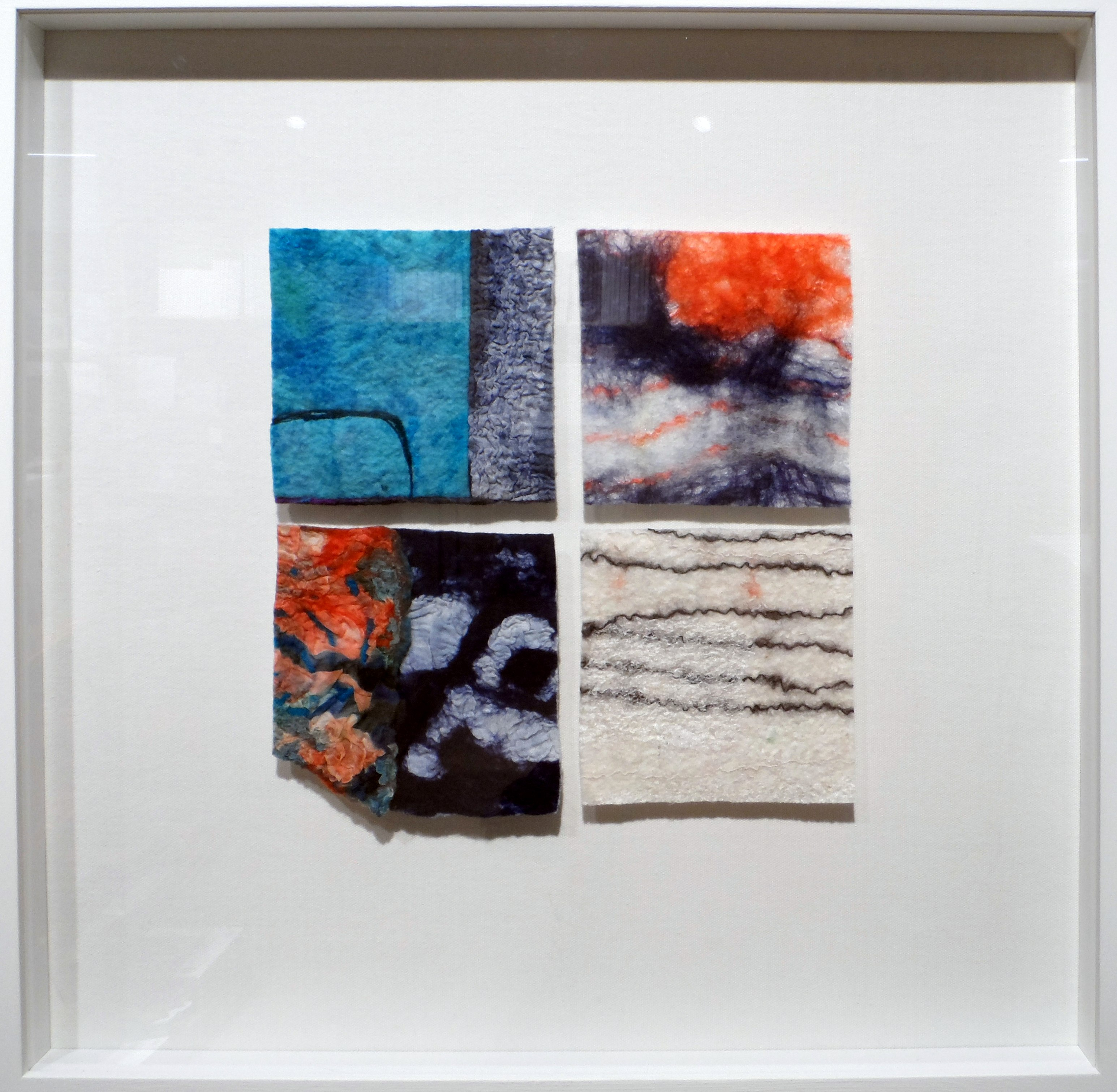 UNTITLED B by Cath Carmyllie, felted stitched, dyed, printed textiles, Re-View Textile exhibition, Nov 2019