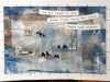 (detail) 7 DAYS - 7 HAIKU by Janet Wilkinson, print and stitch, Re-View Textile exhibition, Nov 2019