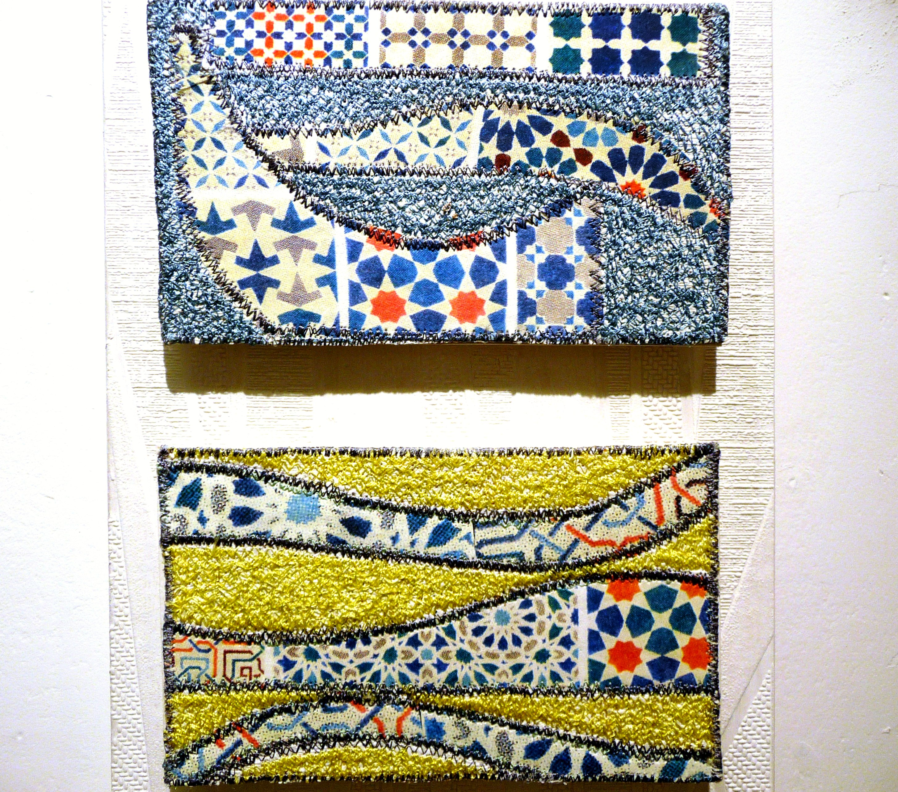 detail of ECHOES OF THE MOORS 1 by Doreen Sedat of TX Textiles group