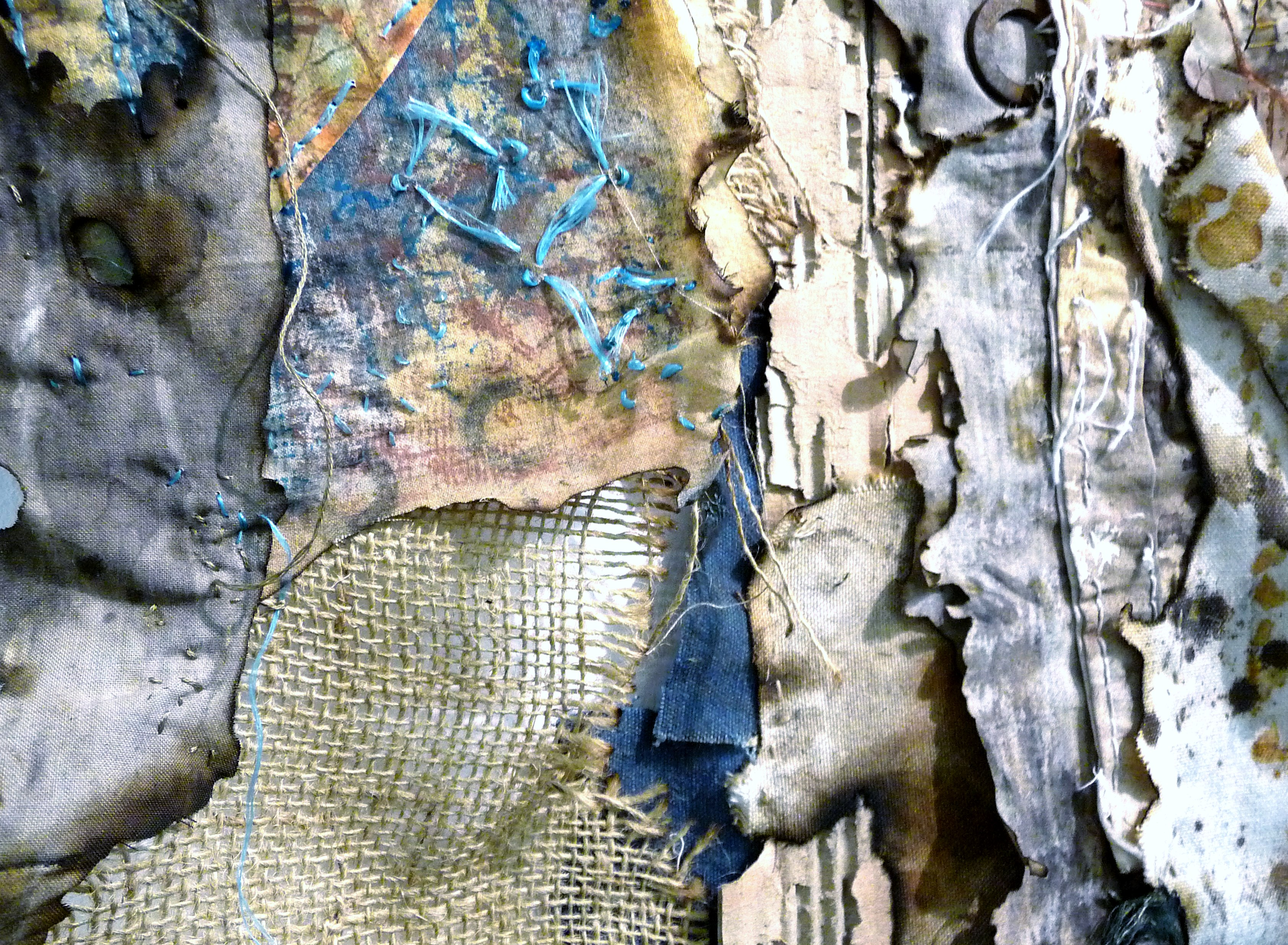 detail of WEATHERED by Margaret Wilding of TX Textile group