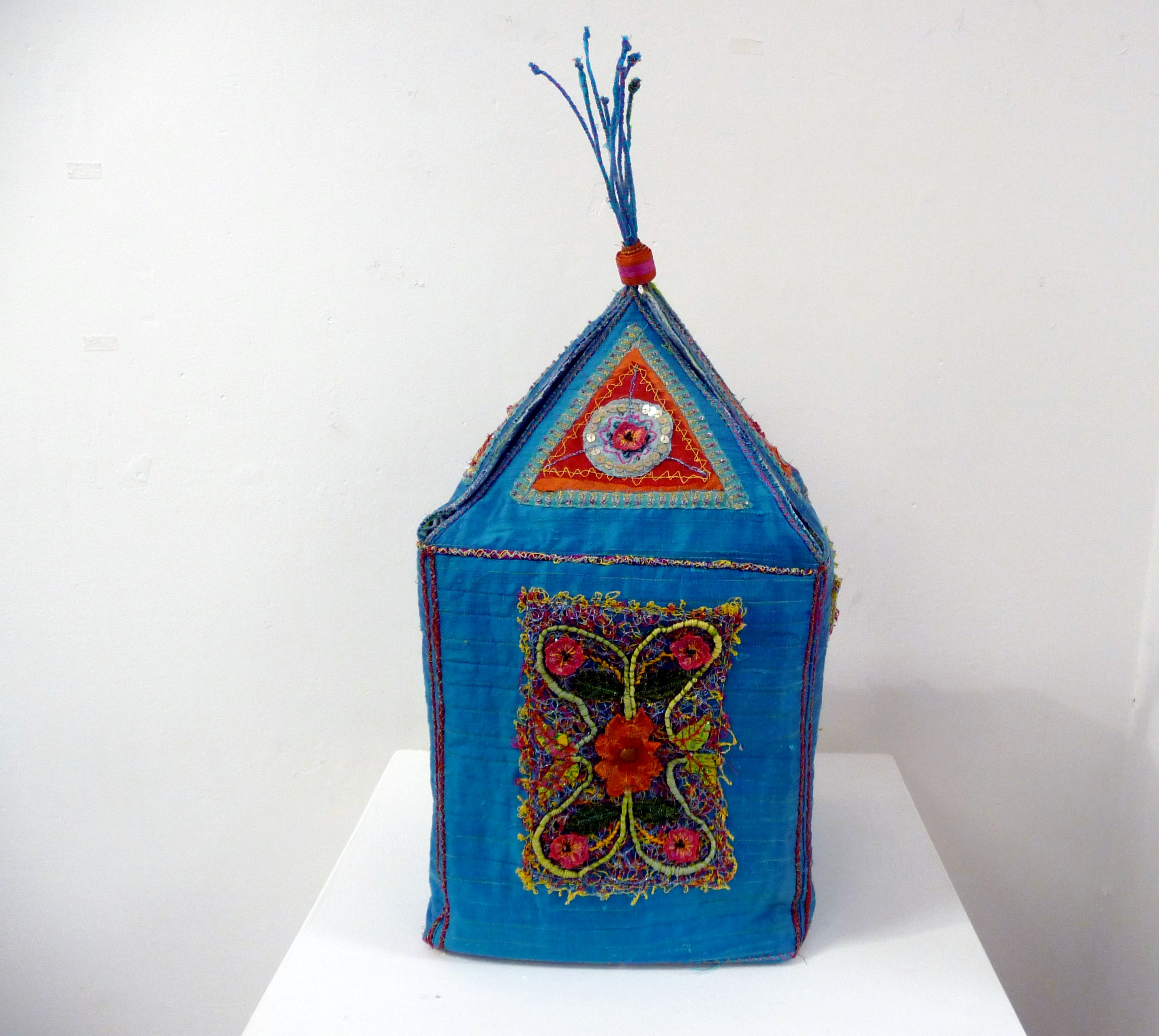 INDIAN-INSPIRED CASKET by Midge Murray of TX Textile group