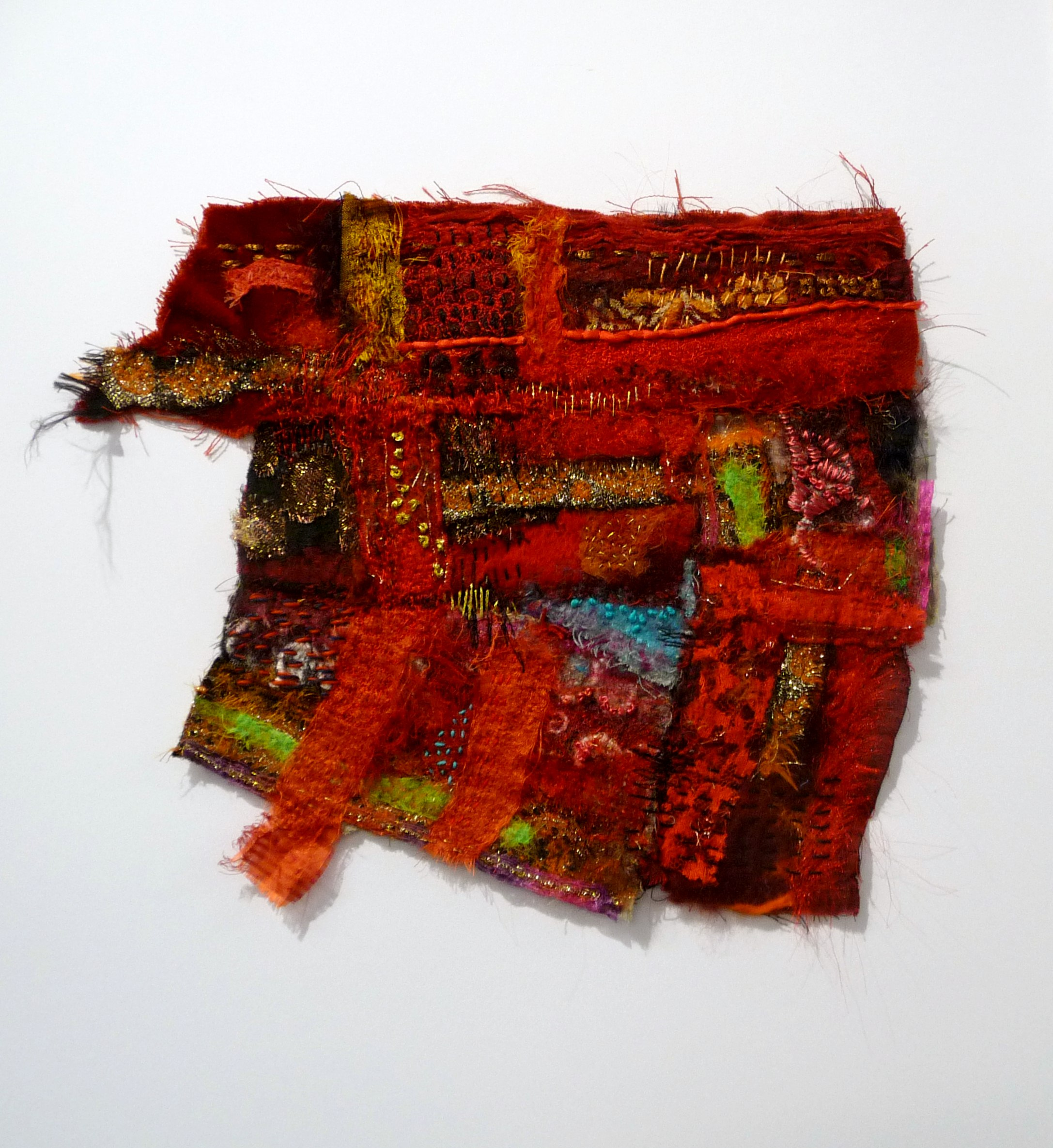 RED INDIAN DOOR by Beryl Woodcroft of TX Textile group