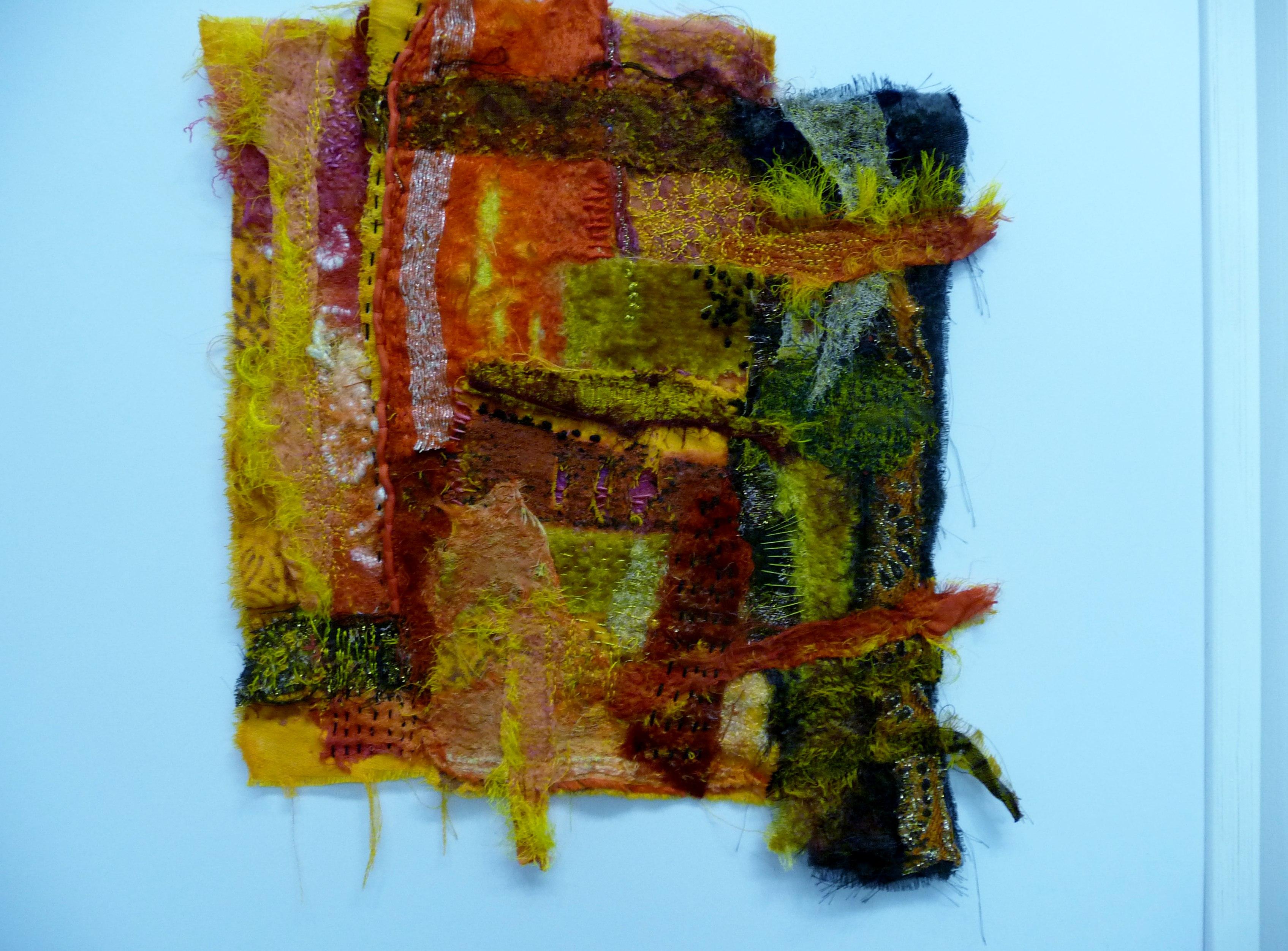 ORANGE INDIAN DOOR by Beryl Woodcroft of TX Textile group