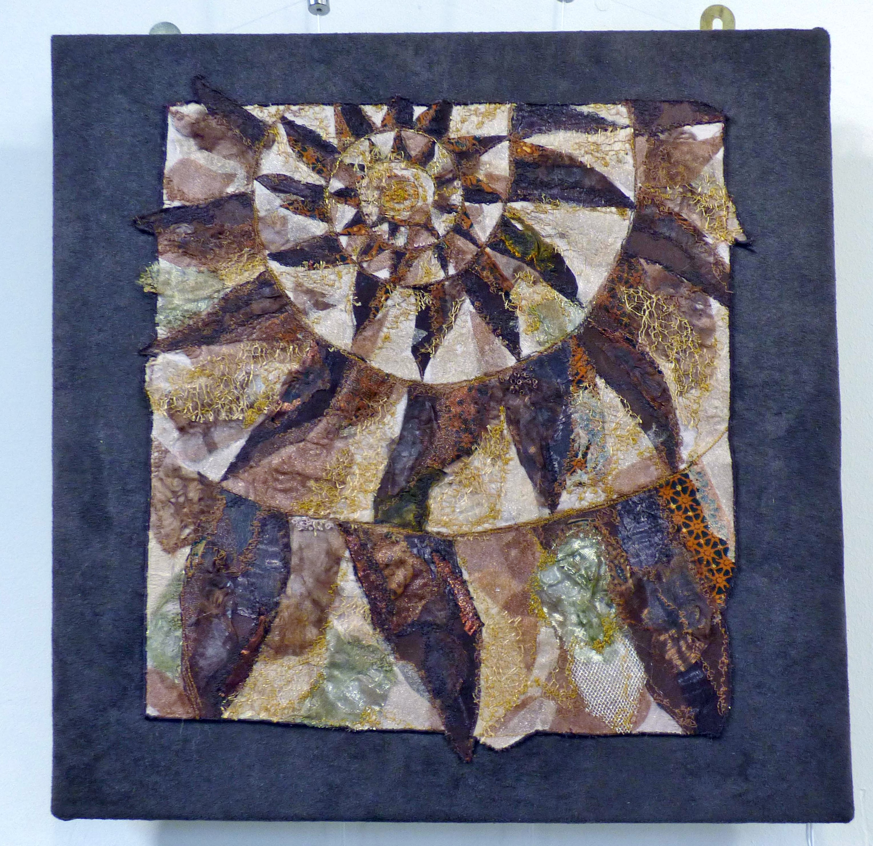 THE ETERNAL SPIRAL-THE AMMONITE 1 by Nicky Robertson, Natural Progression Textile Group, Jan 2020