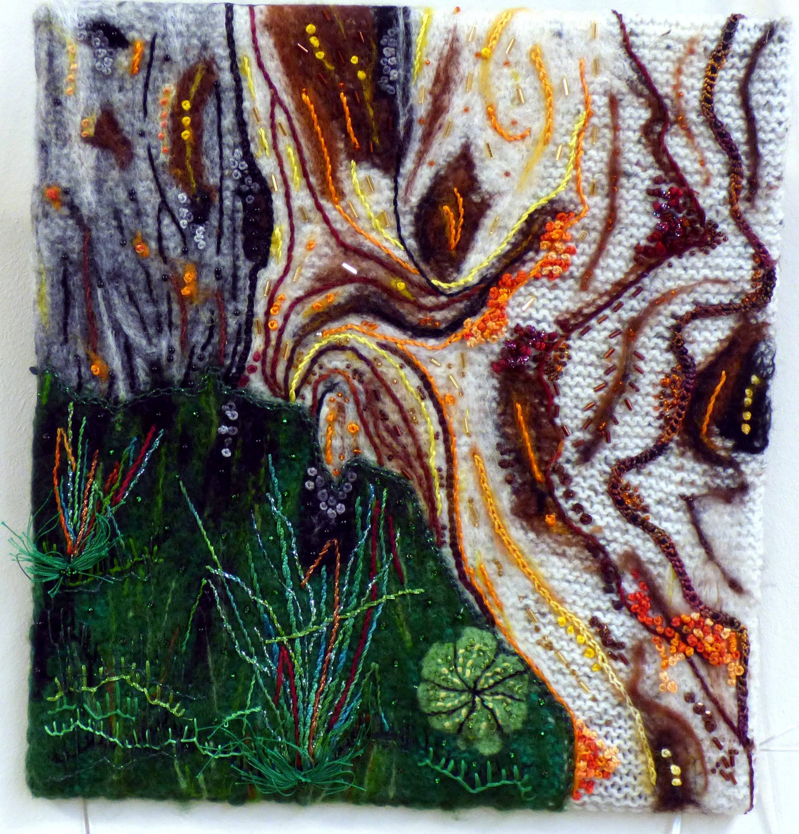 NEW LIFE AMONGST THE ANCIENT ROLLRIGHT STONES by Anne Leyland, Natural Progression Textile Group, Jan 2020