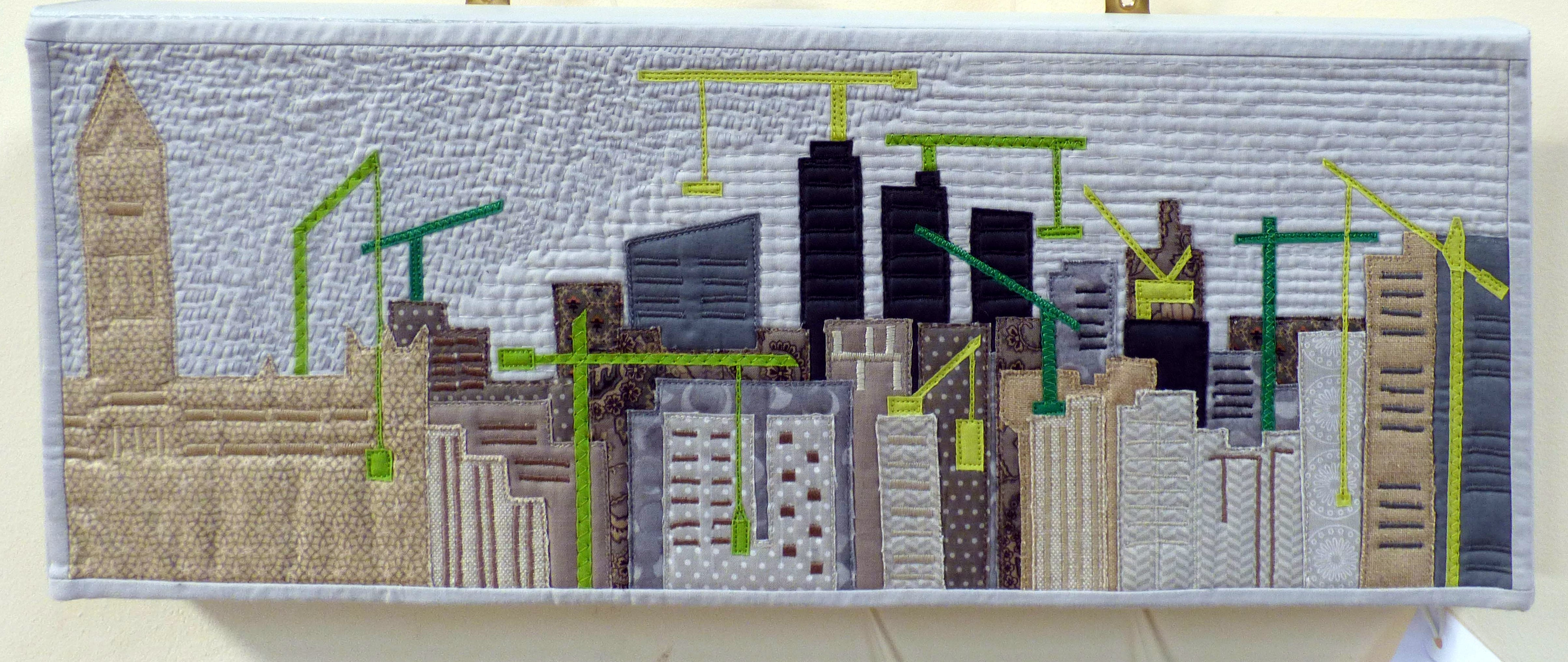 STORM RISE ON THE NORTHERN SKYLINE by Jane Holmes, Natural Progression Textile Group, Jan 2020