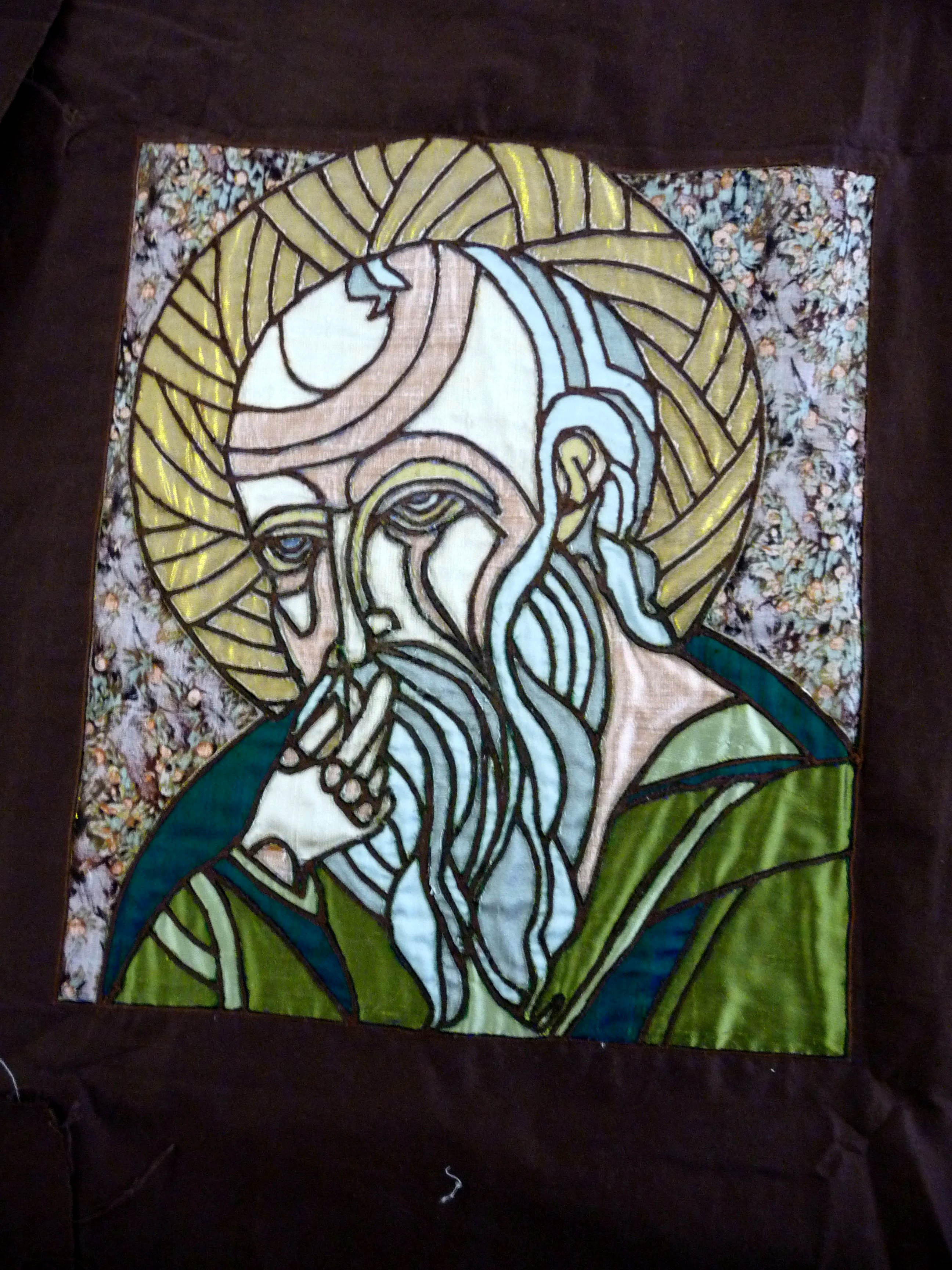ST. JOHN THE SILENT, revers applique by Hilary McCormack