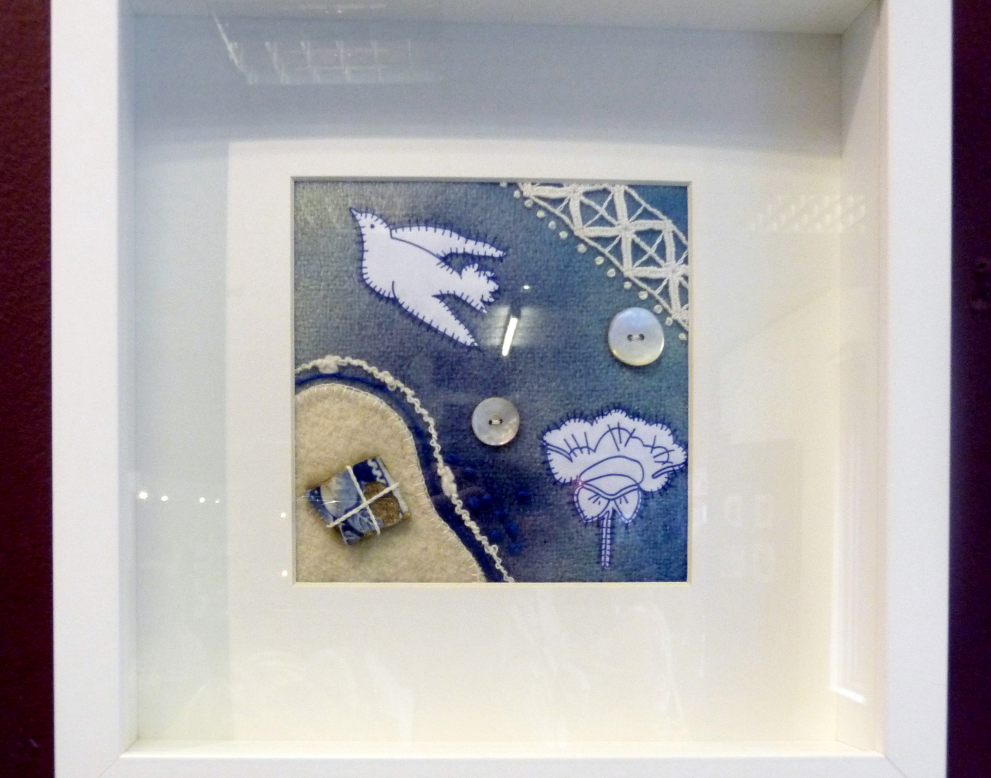 FRAGMENT 1 by Janet Wilkinson, hand stitch on blanket