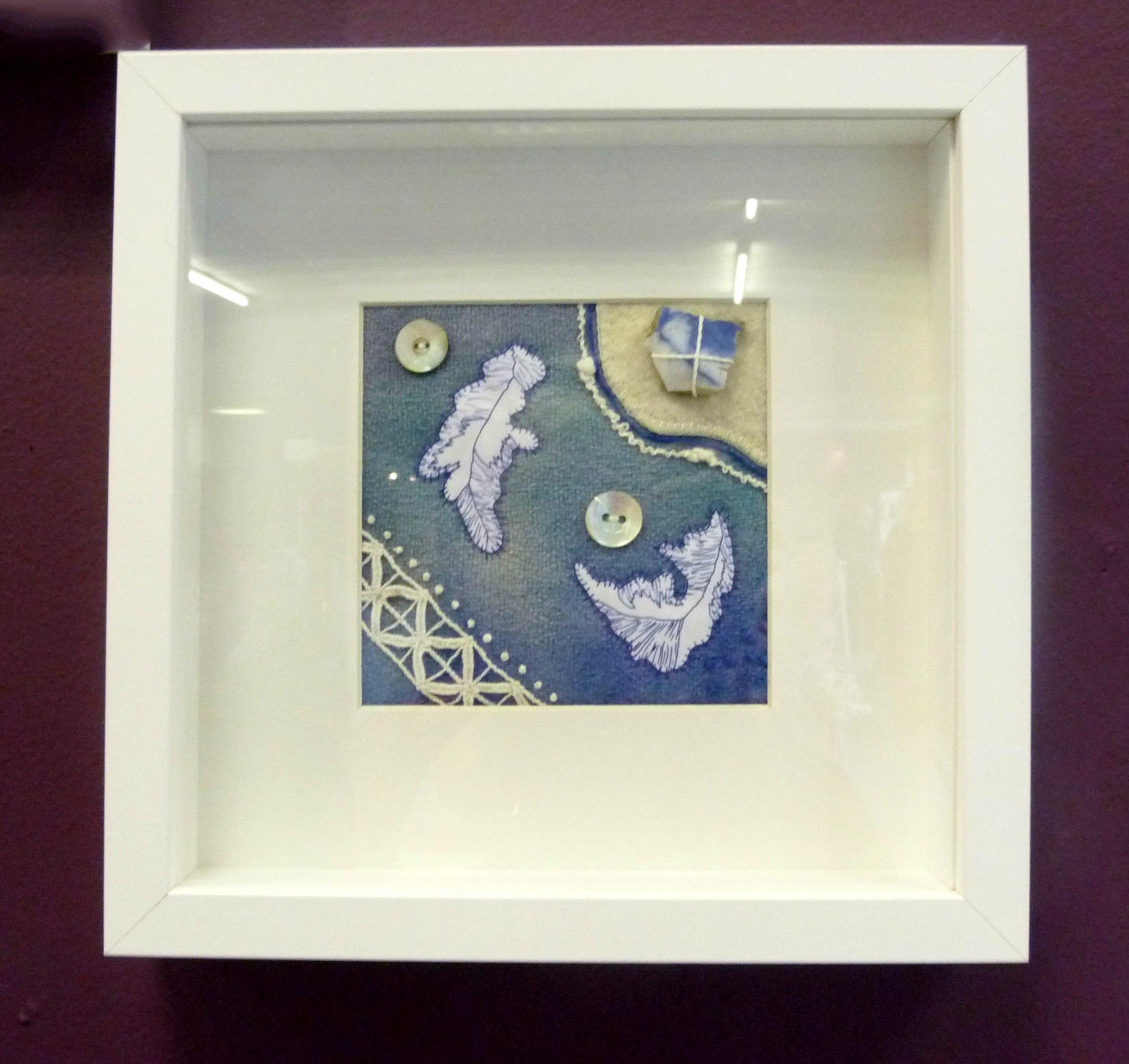 FRAGMENT 2 by Janet Wilkinson, hand stitch on blanket
