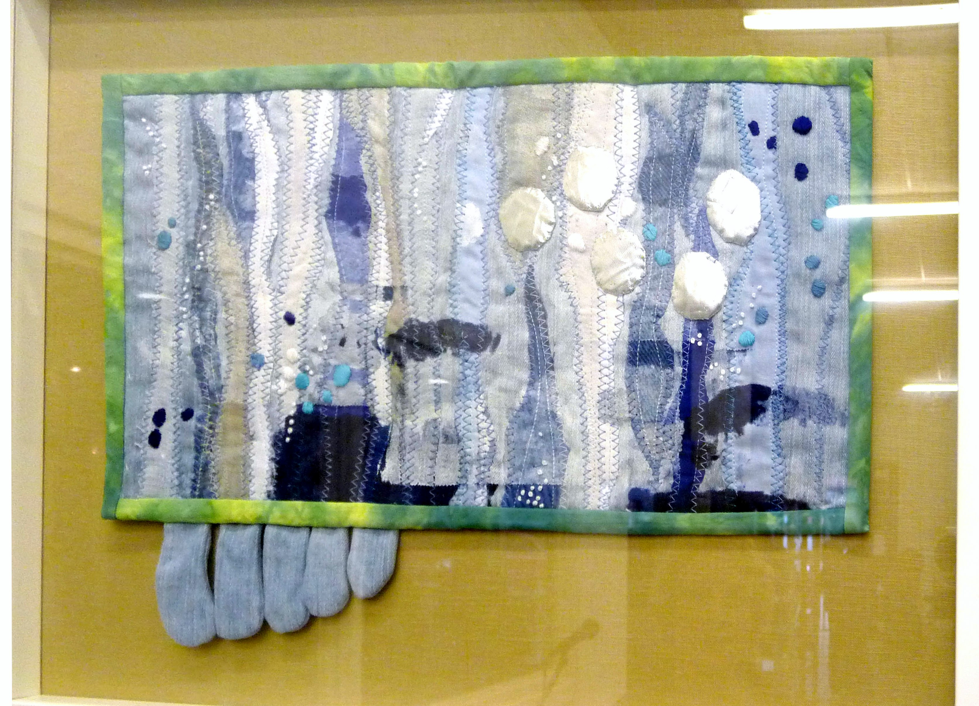 PUTTING MY TOES IN THE WATER by Sue Boardman, textile