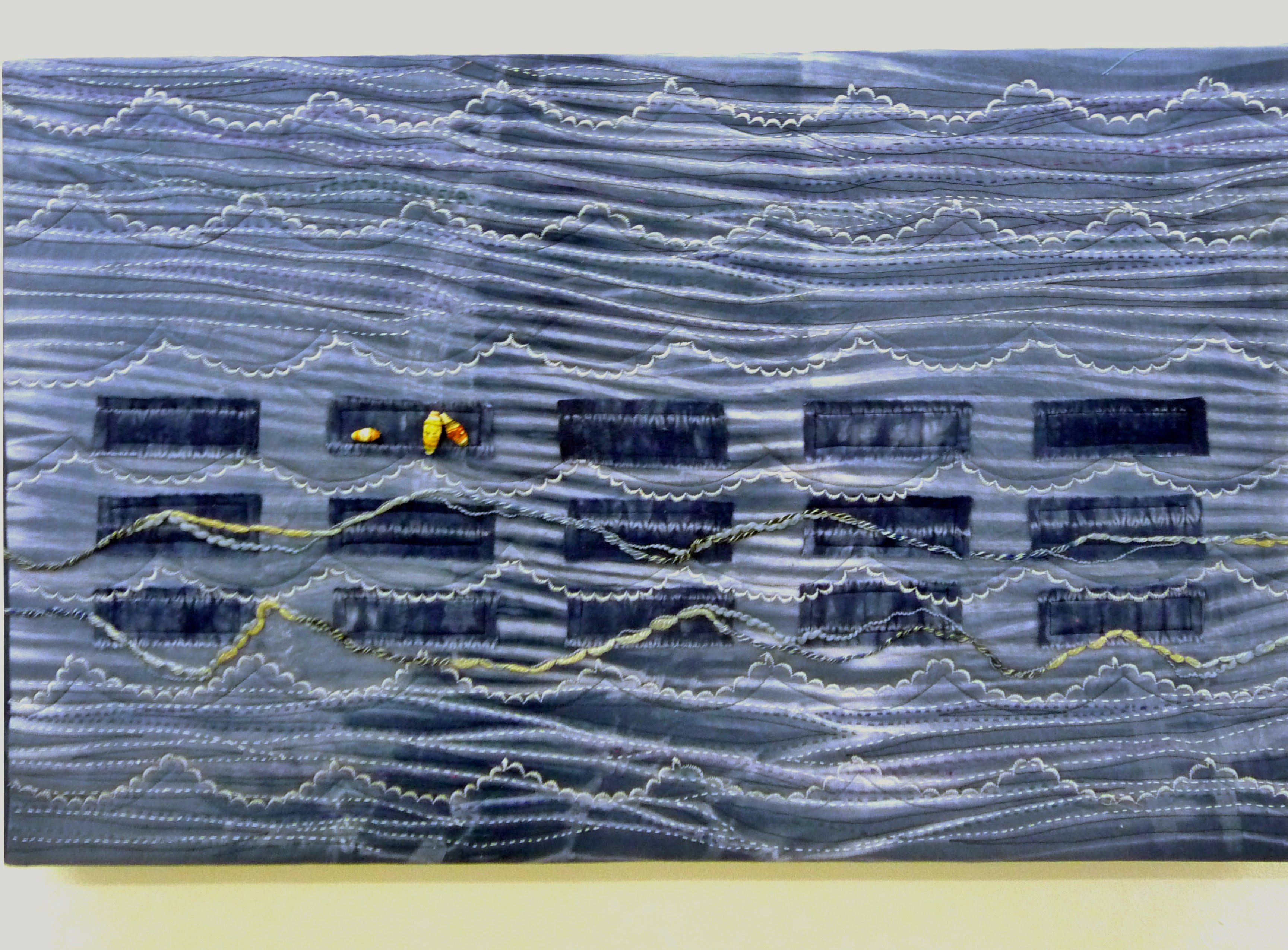 WATCHING THE WAVES by Sue Boardman, textile