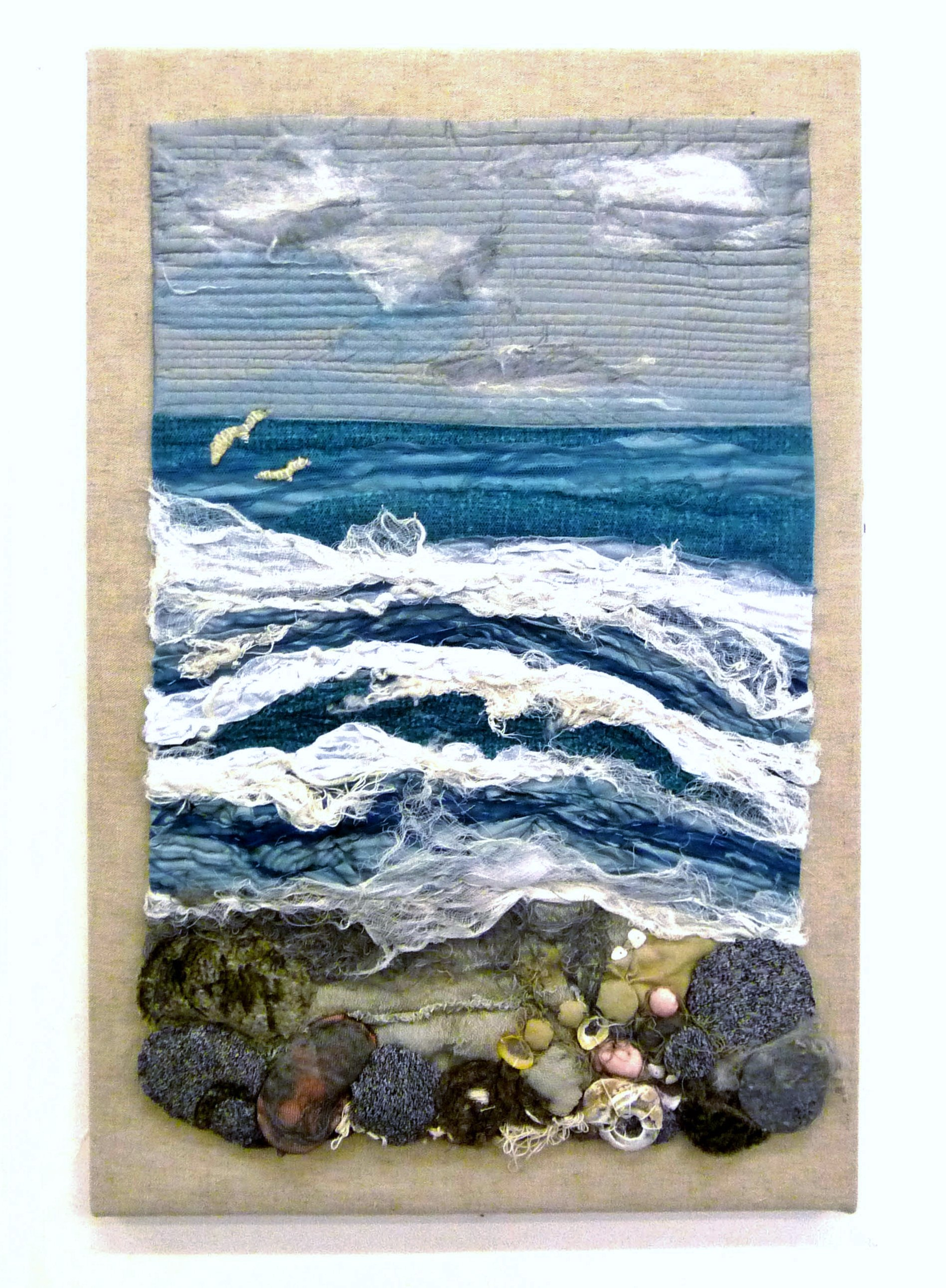 STORMY SEA by Rosey Paul, textile