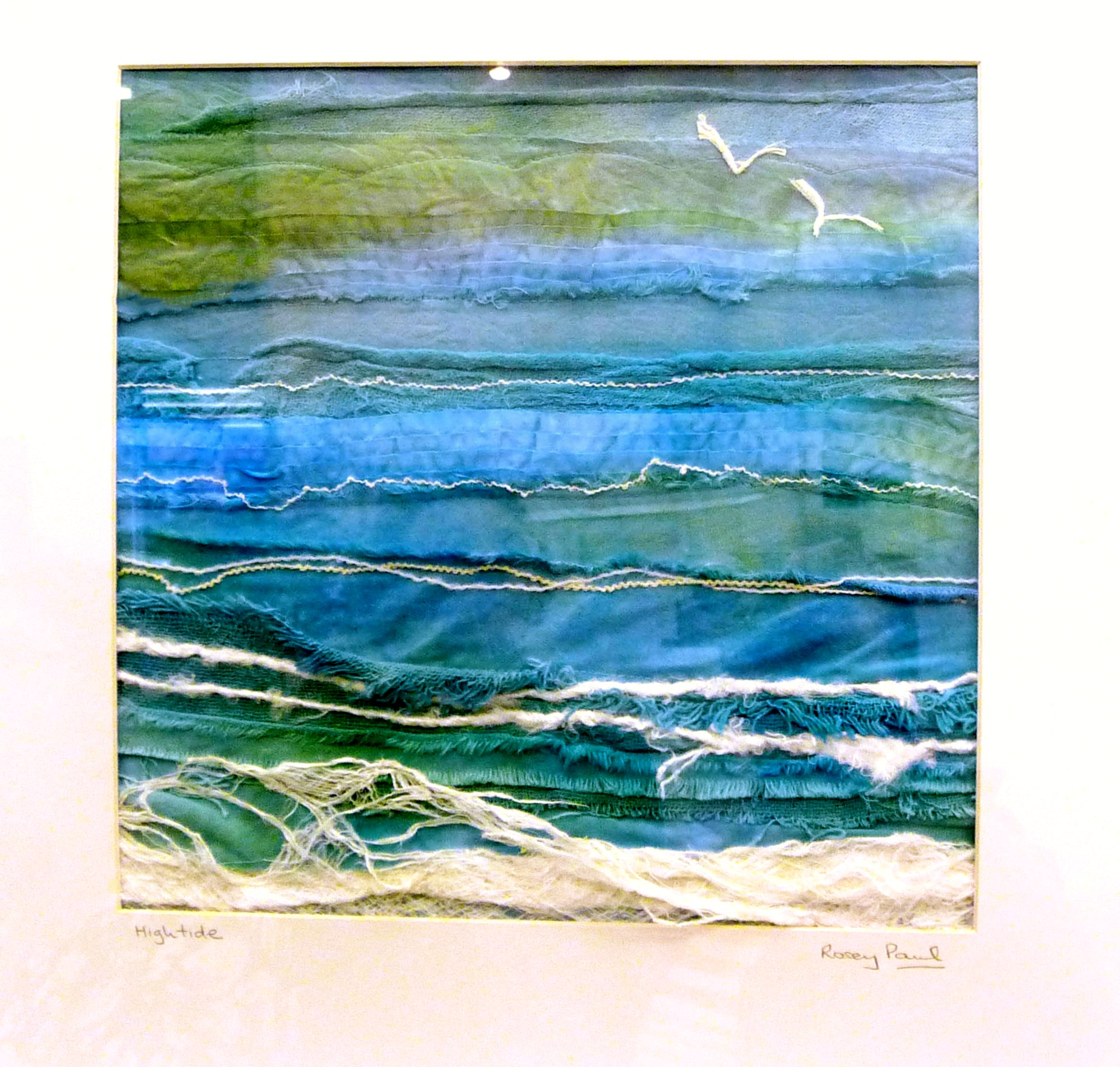 HIGH TIDE by Rosey Paul, textile