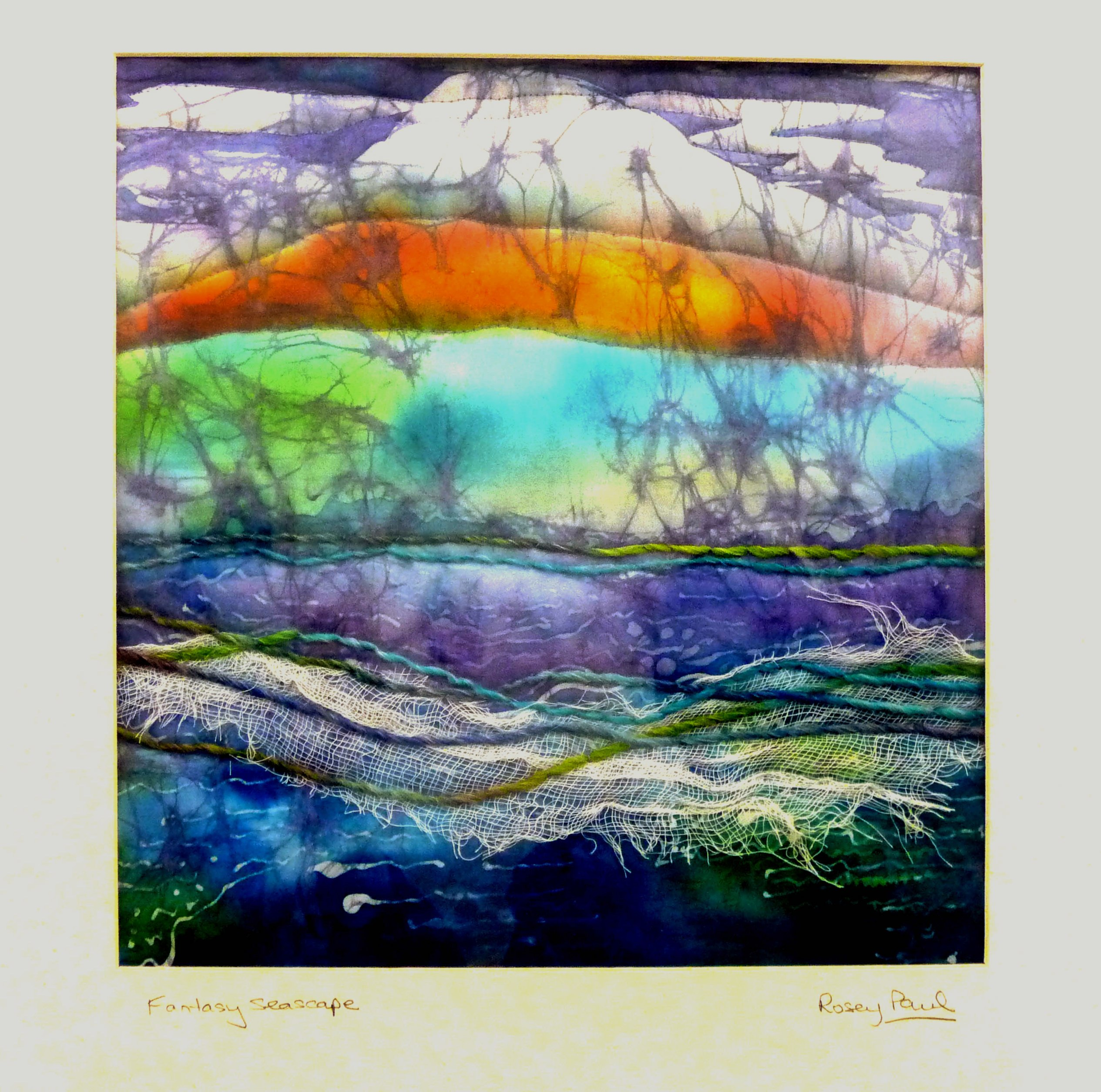 FANTASY SEASCAPE by Rosey Paul, textile