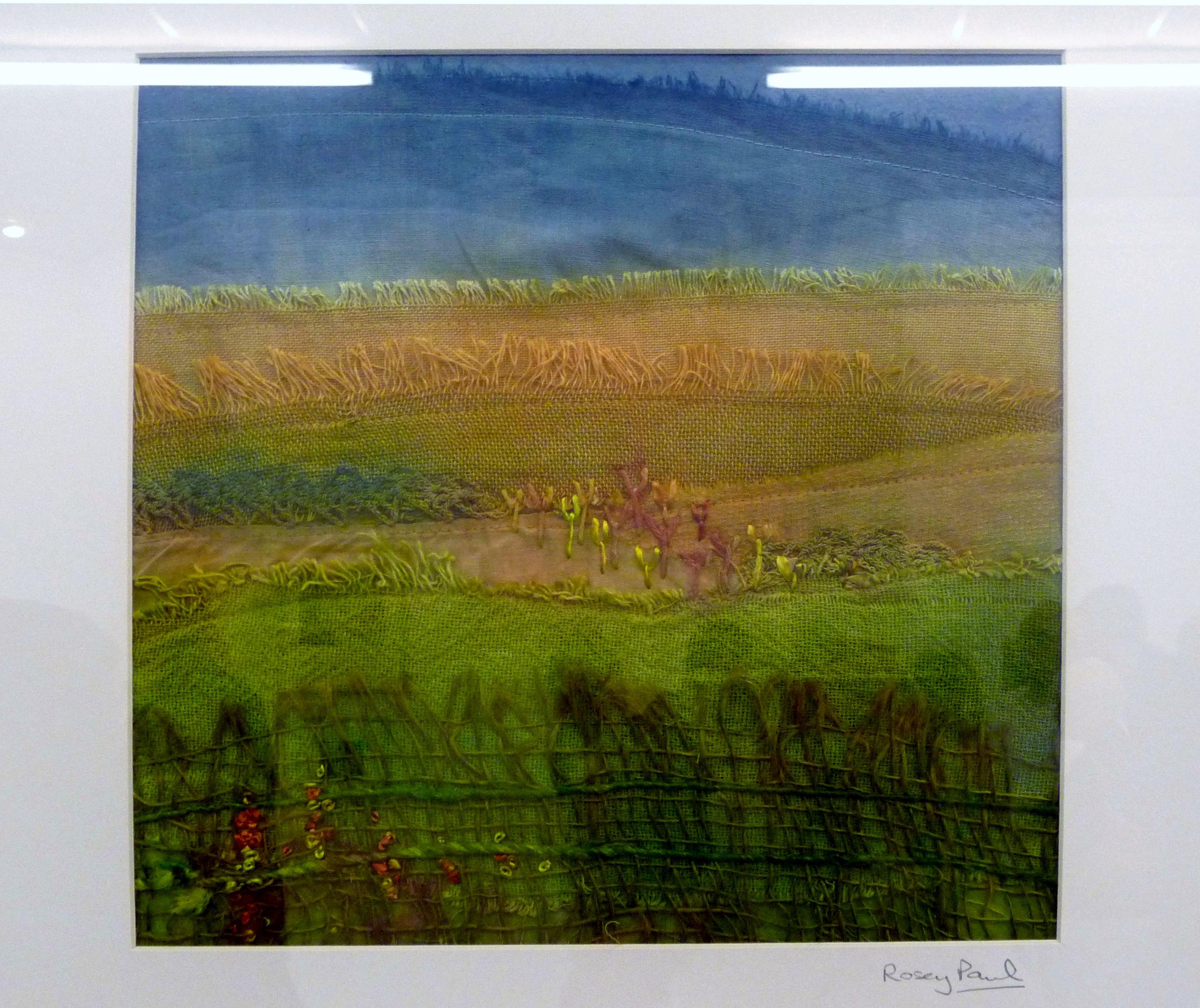 OCHRE FIELDS (i) by Rosey Paul, textile