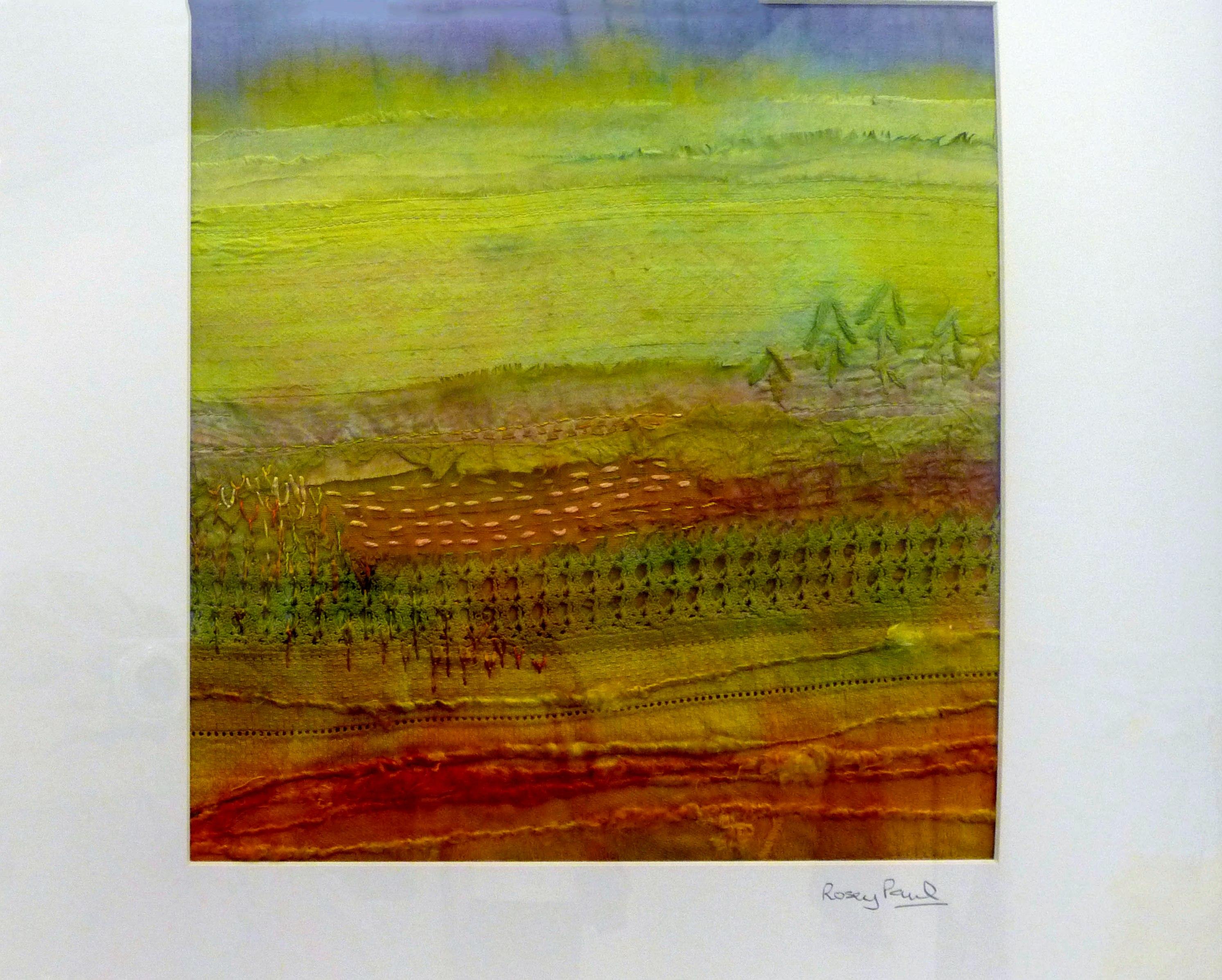 OCHRE FIELDS (ii) by Rosey Paul, textile