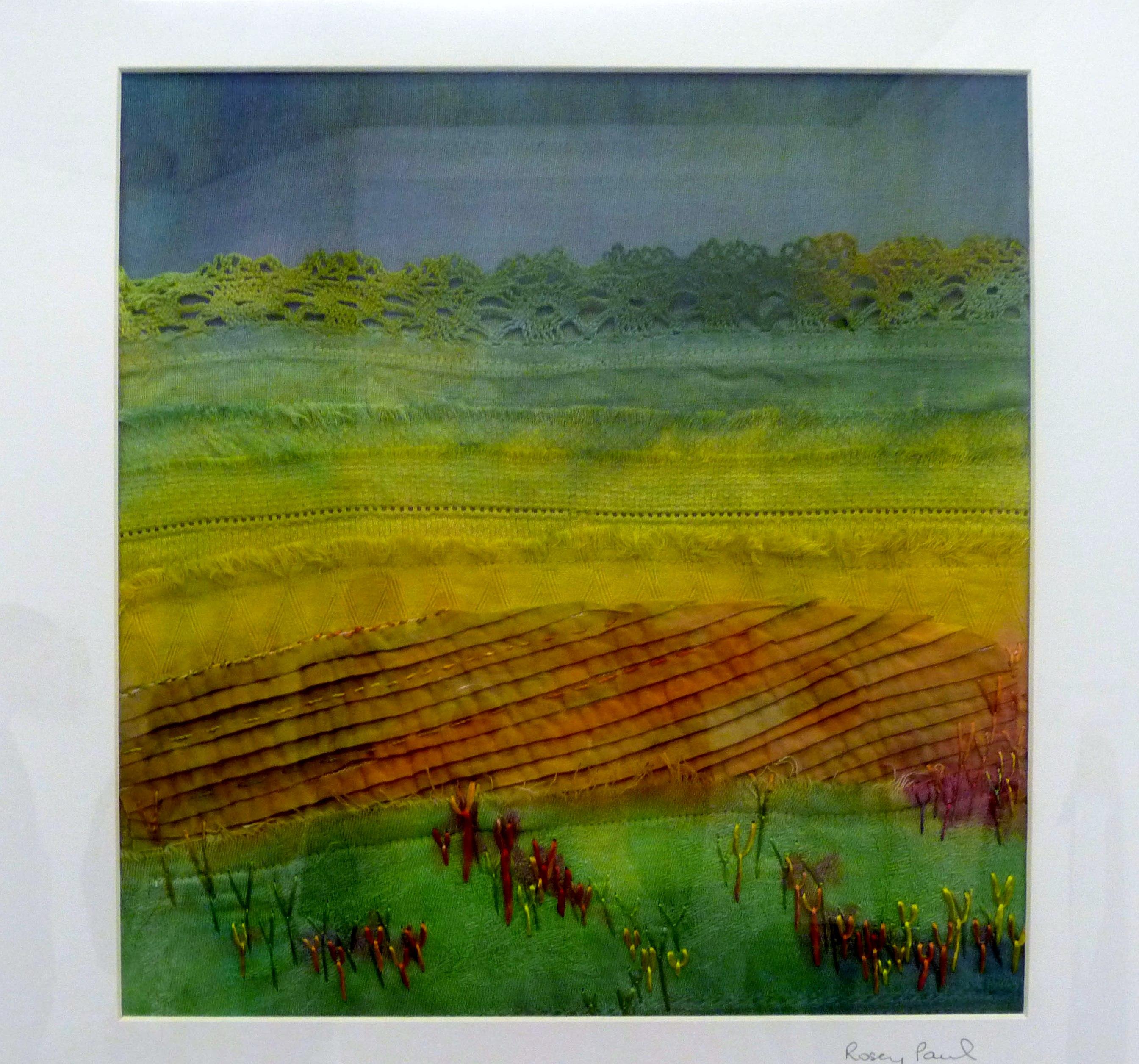 OCHRE FIELDS (iii) by Rosey Paul, textile