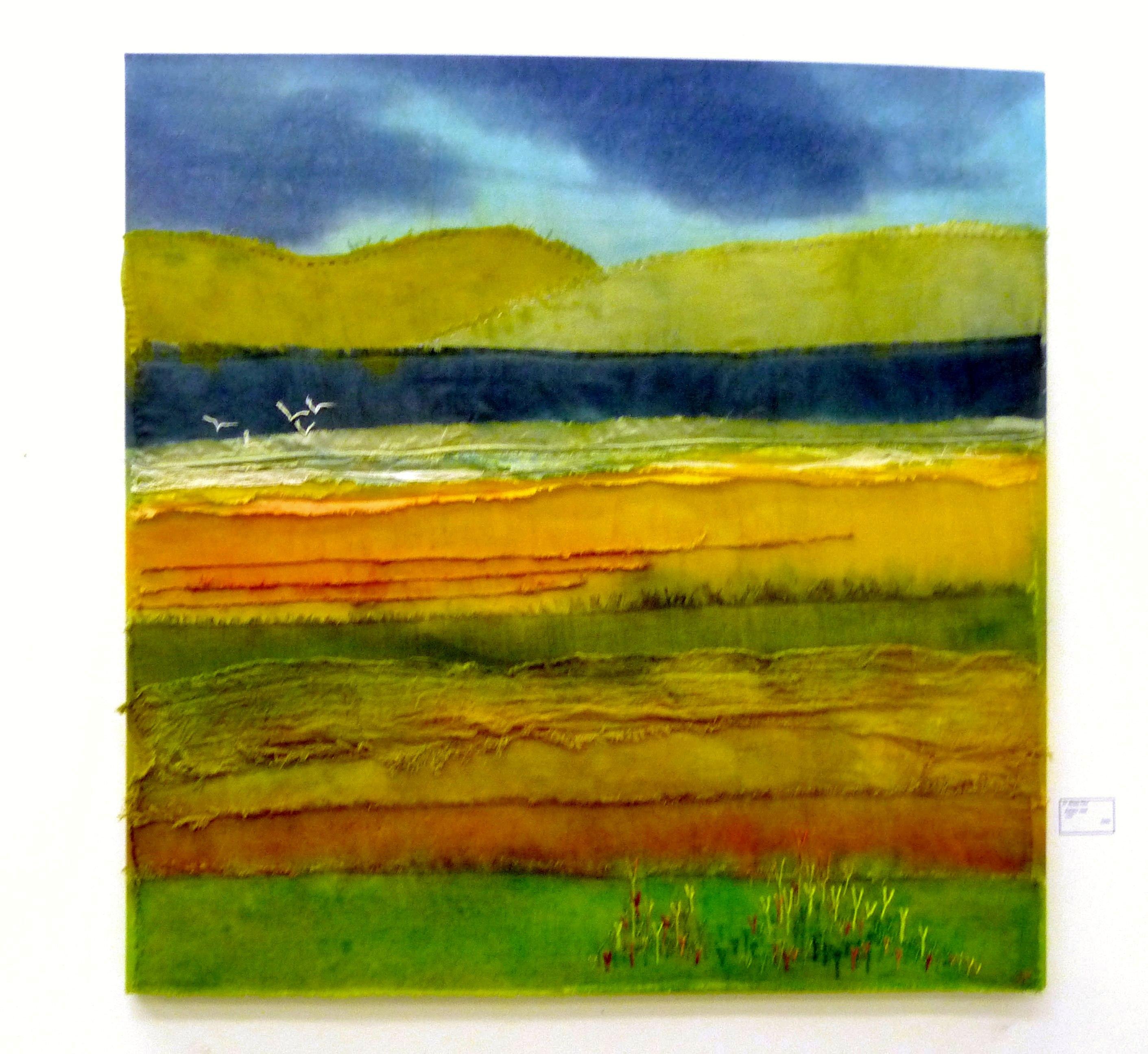 ESTUARY VIEW by Rosey Paul, textile
