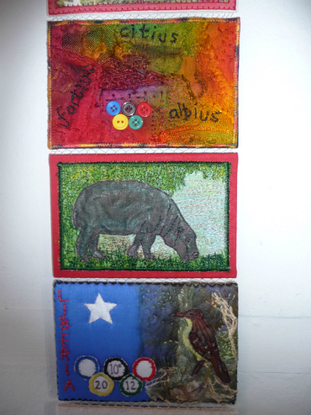 N Wales EG Biennial exhib, 2011, Liberian postcards (detail)