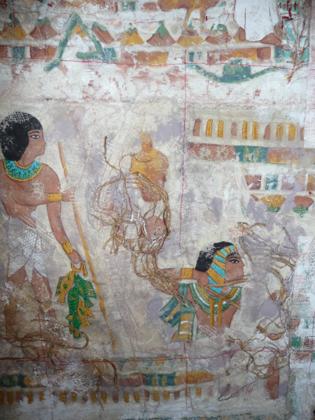N Wales EG Biennial exhib, 2011, Egyptian Panel (detail), mixed media