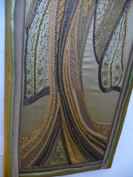 N Wales EG Biennial exhib, 2011, Geisha (detail) by Sue Hinde, goldwork
