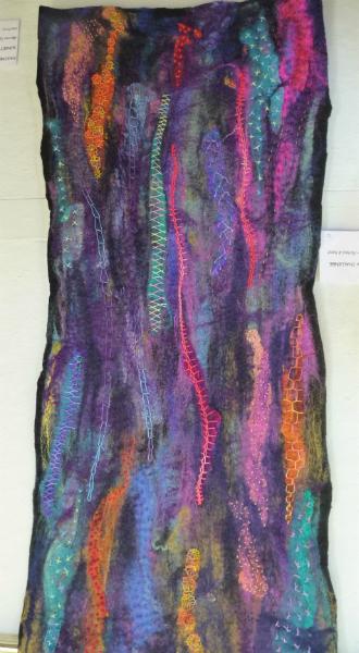 N Wales EG Biennial exhib, 2011, Twelve I, Chimera Challenge, handmade wet felt, dry felted and stitched (twelve stitches)