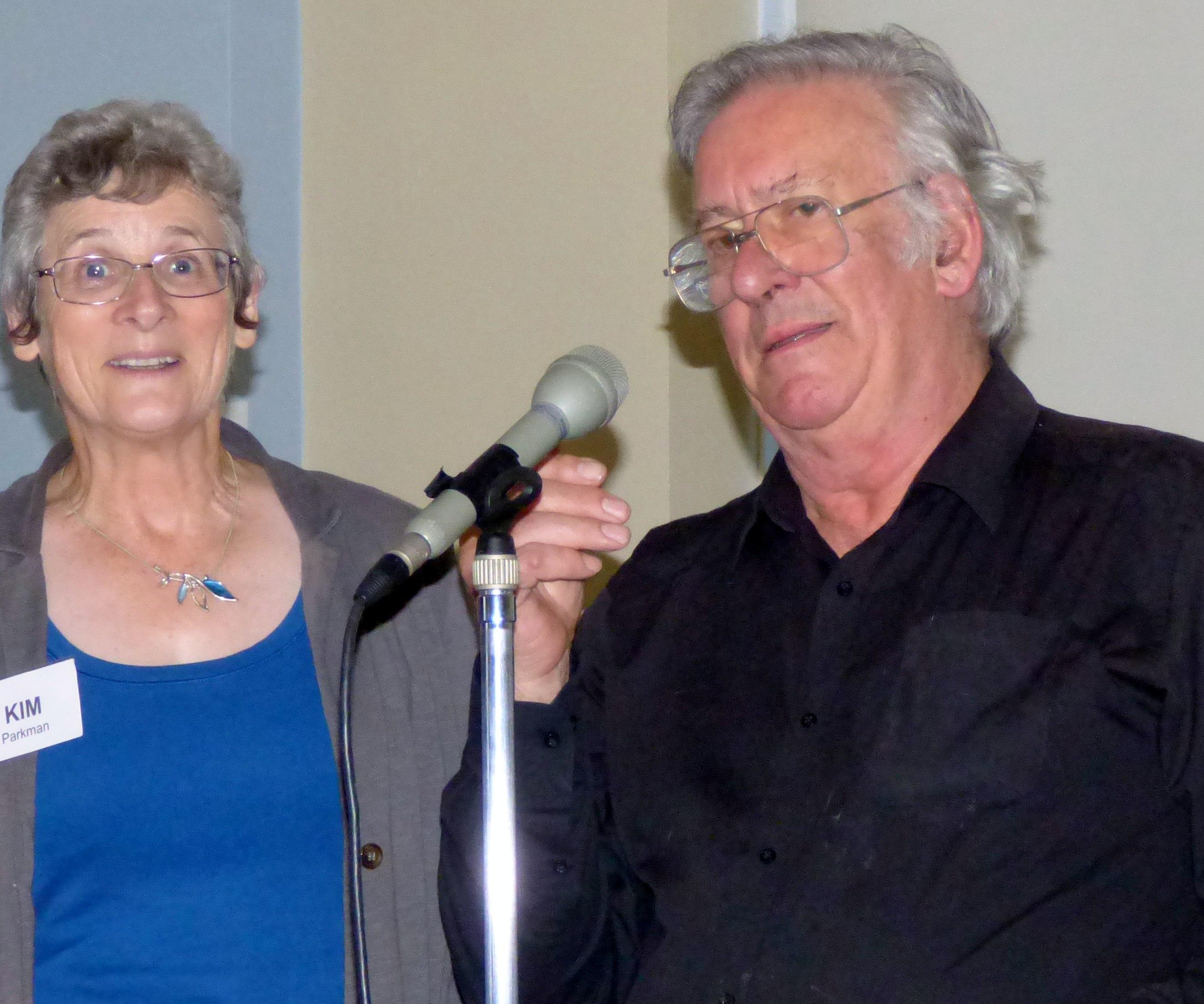 Kim with Richard Box at Merseyside EG, August 2016