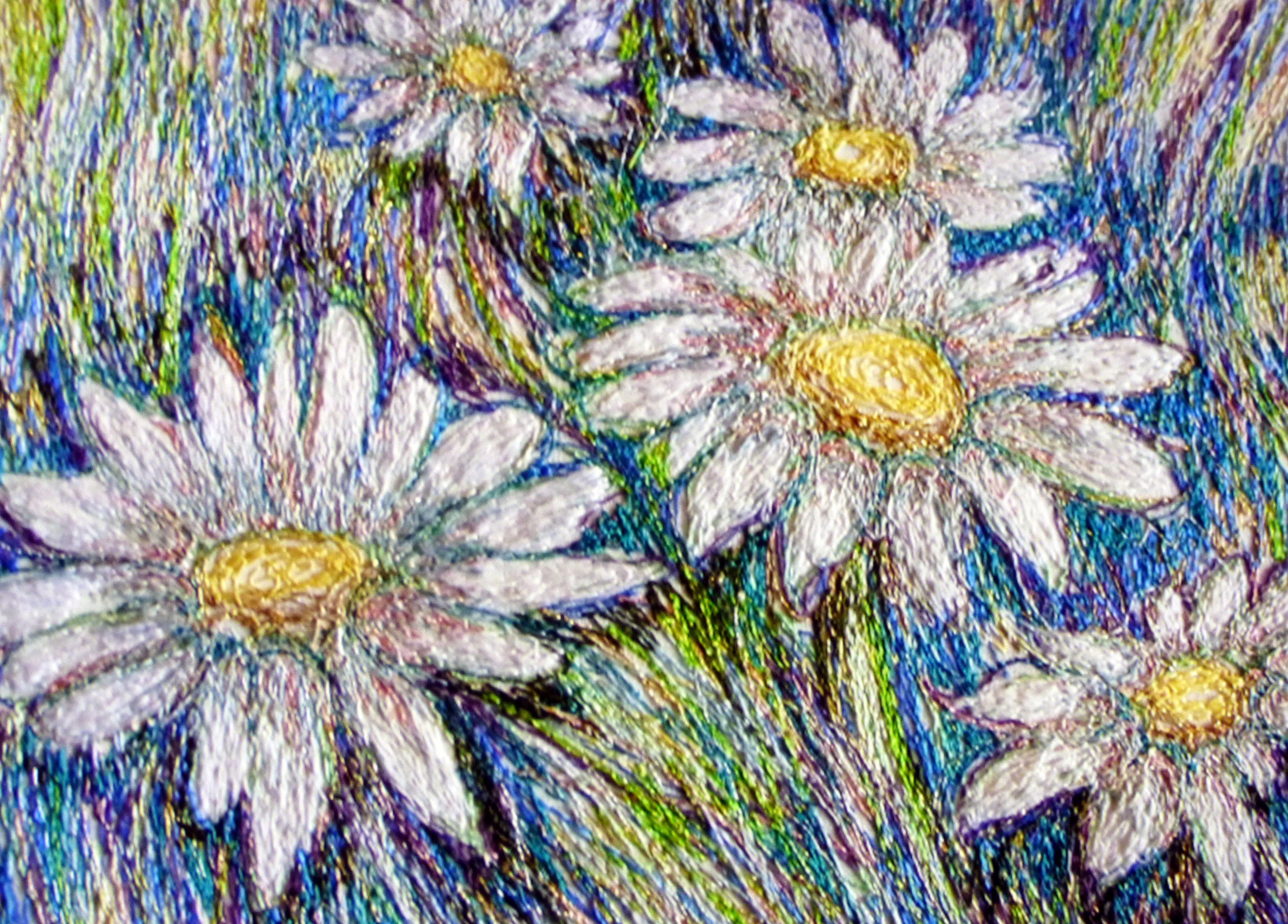 DAISIES embroidery by Richard Box