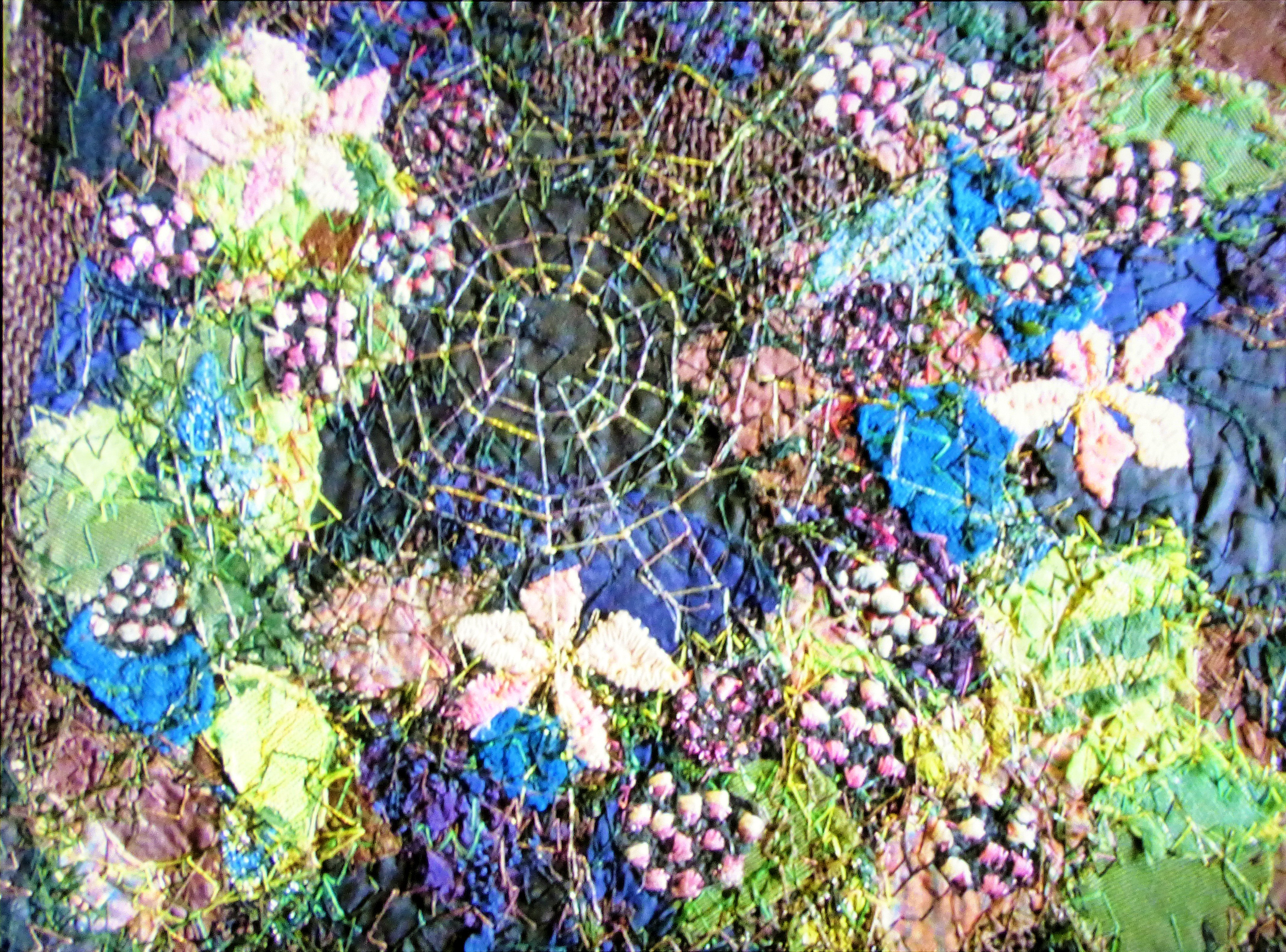 BLACKBERRIES embroidery by Richard Box