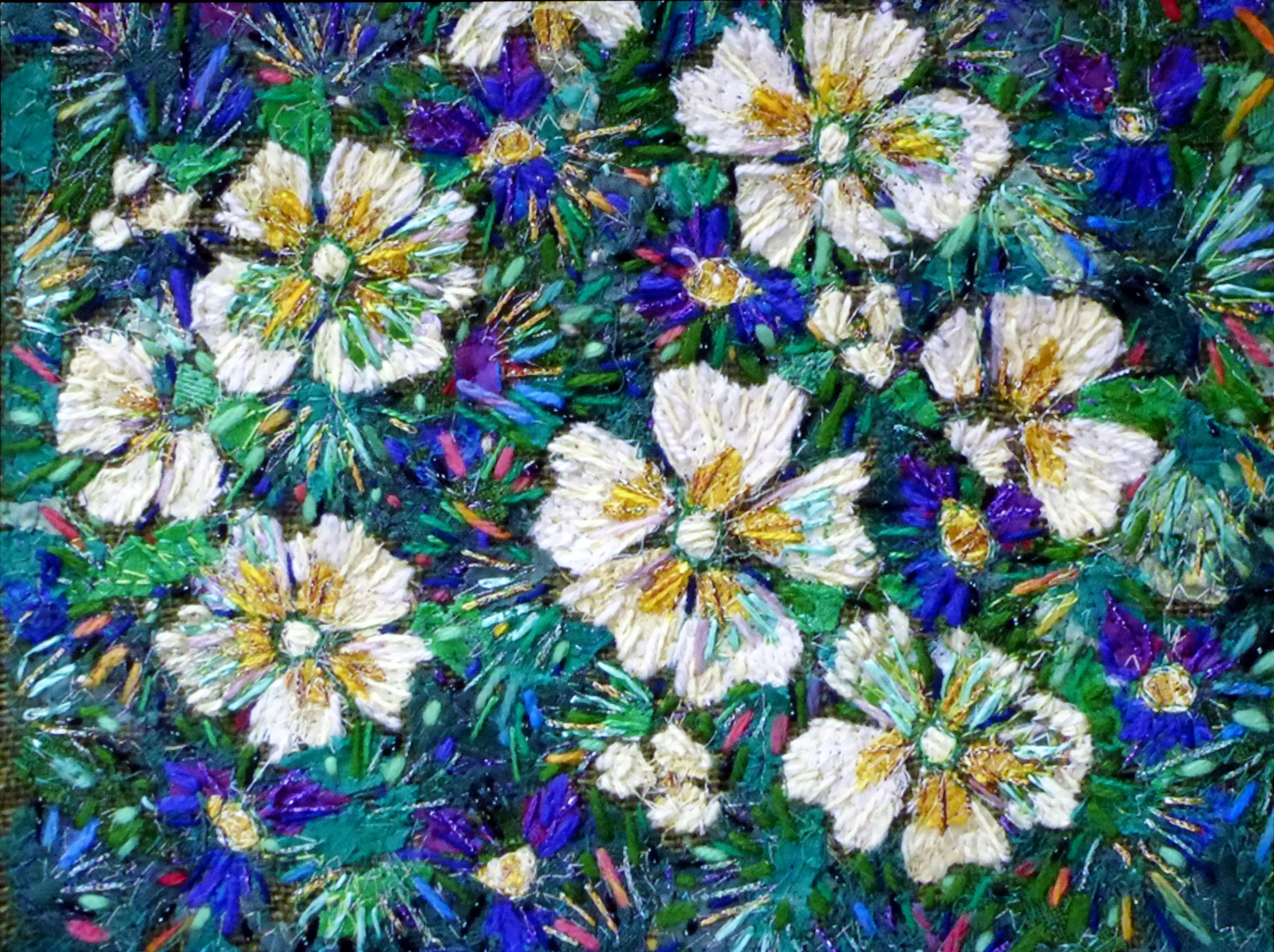 PRIMROSES embroidery by Richard Box