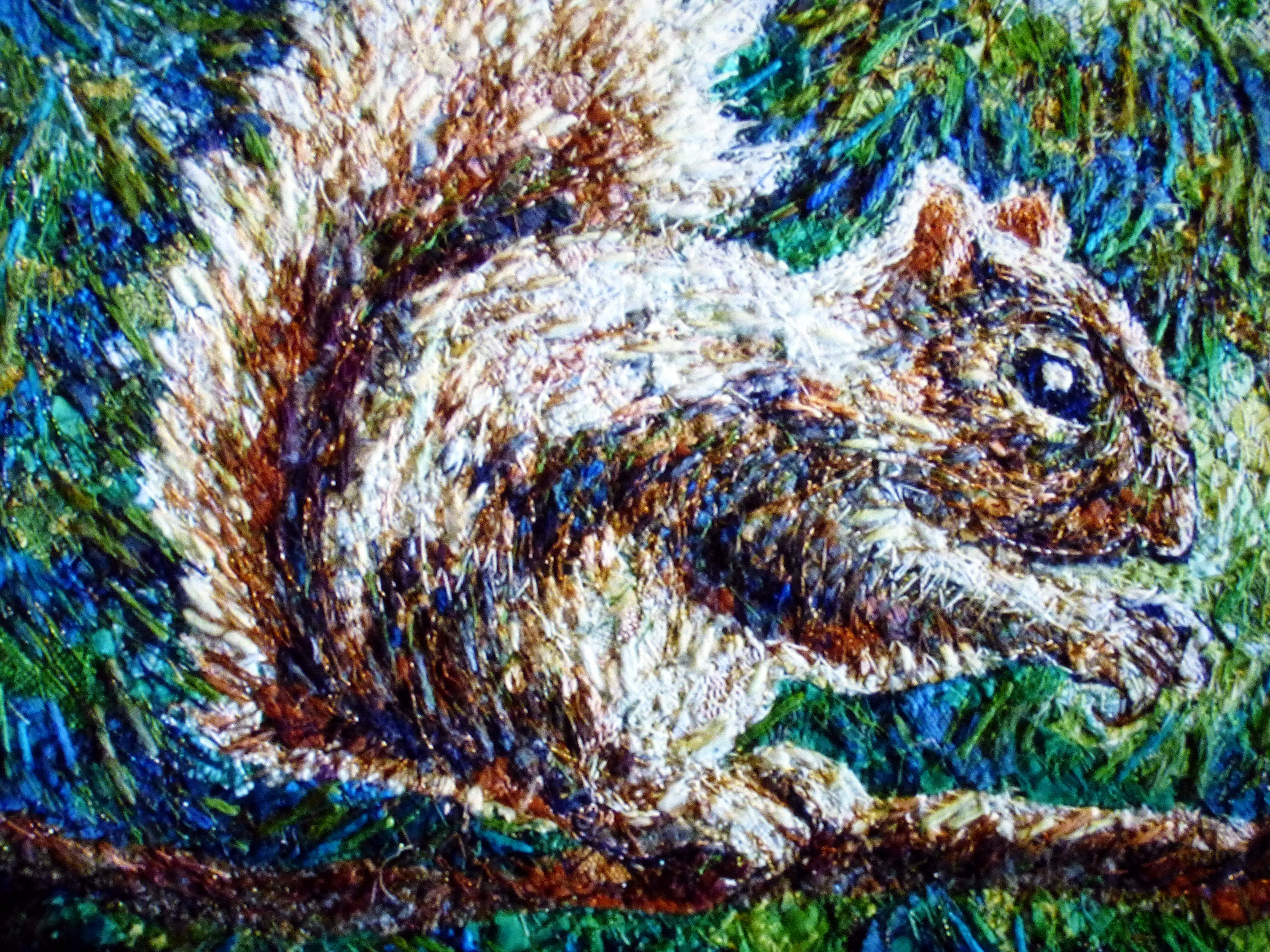 SQUIRREL embroidery by Richard Box