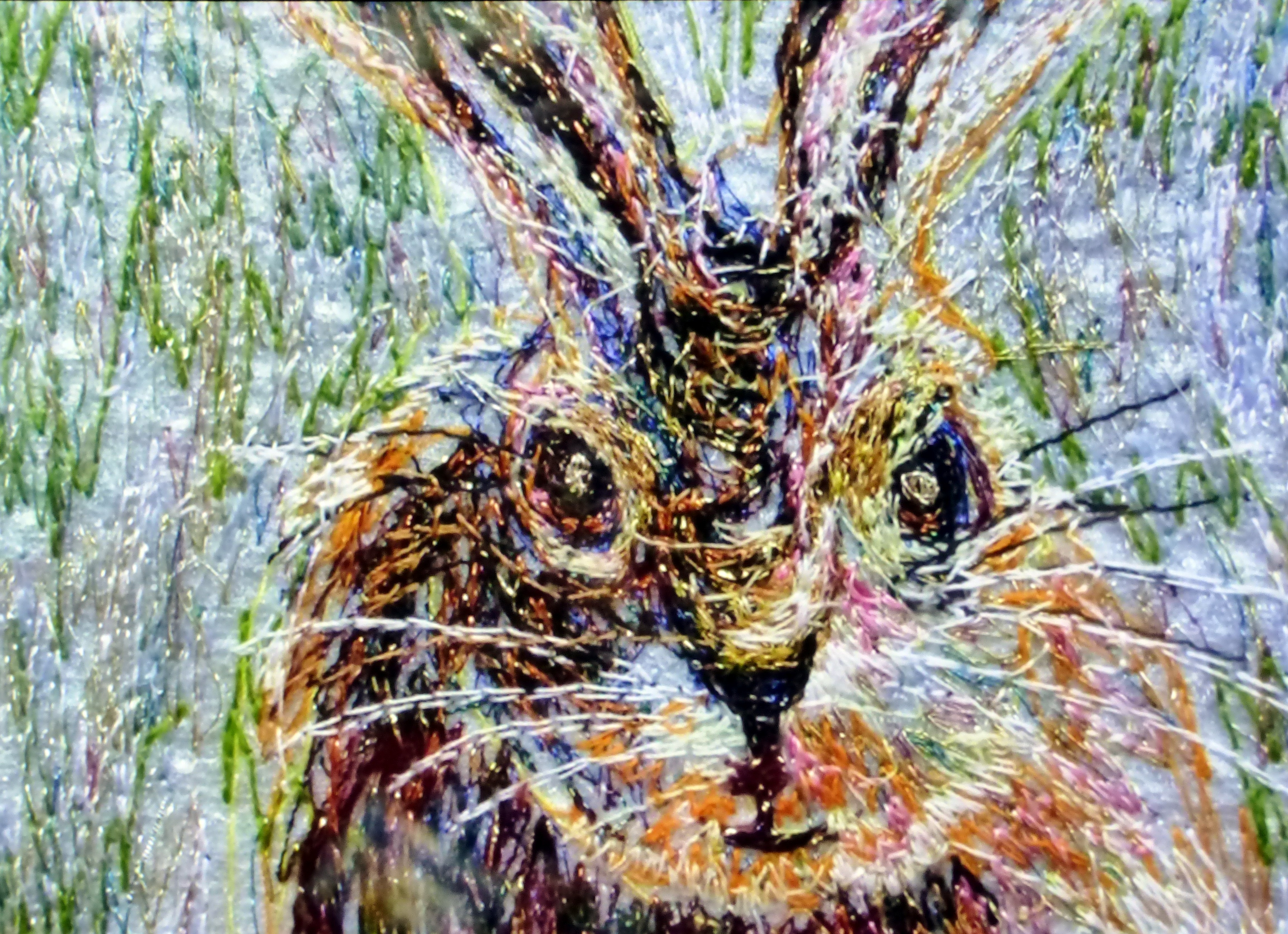 RABBIT embroidery by Richard Box