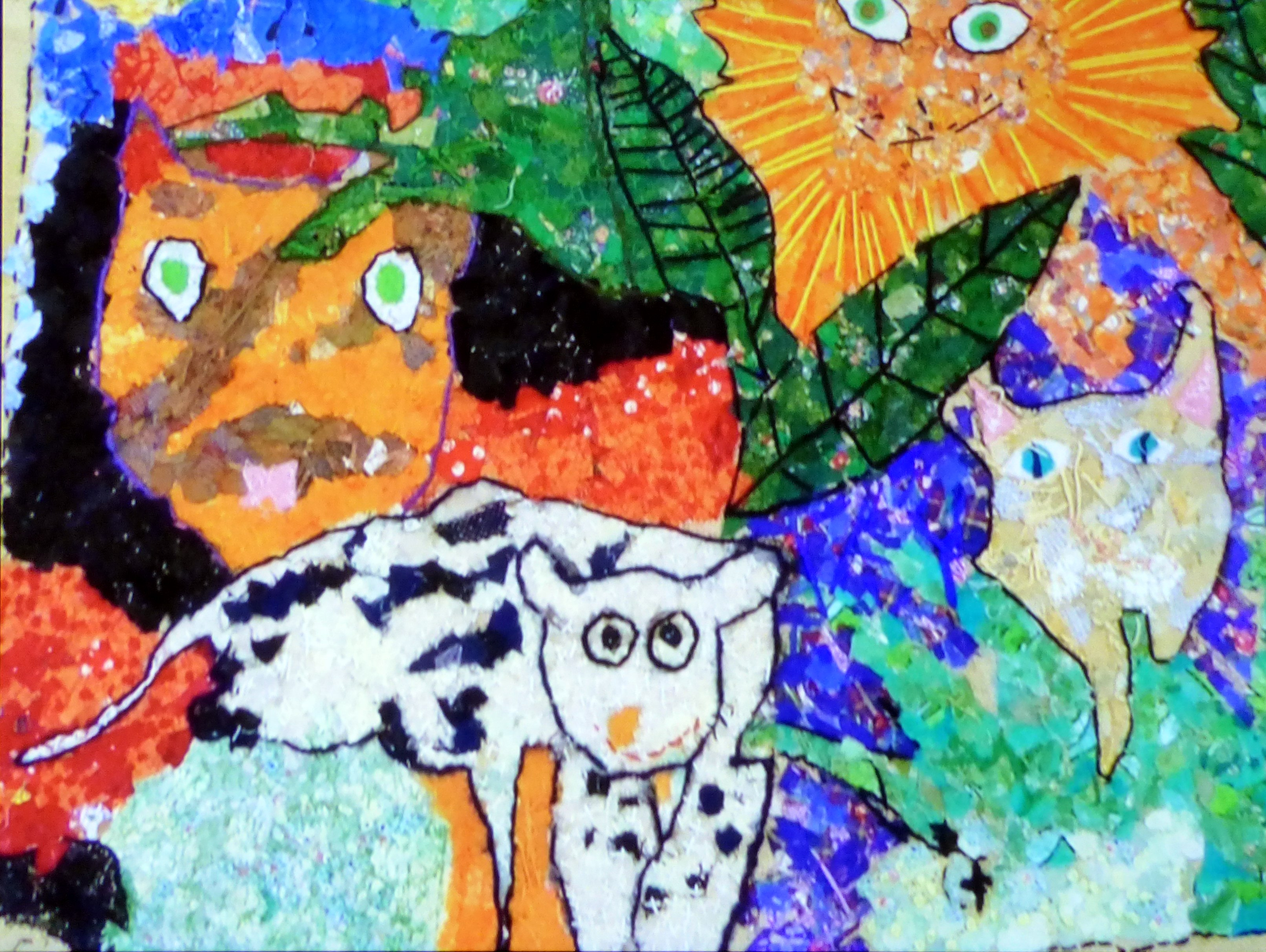 panel created by pupils of The Meadows special Needs School under the guidance of Richard Box