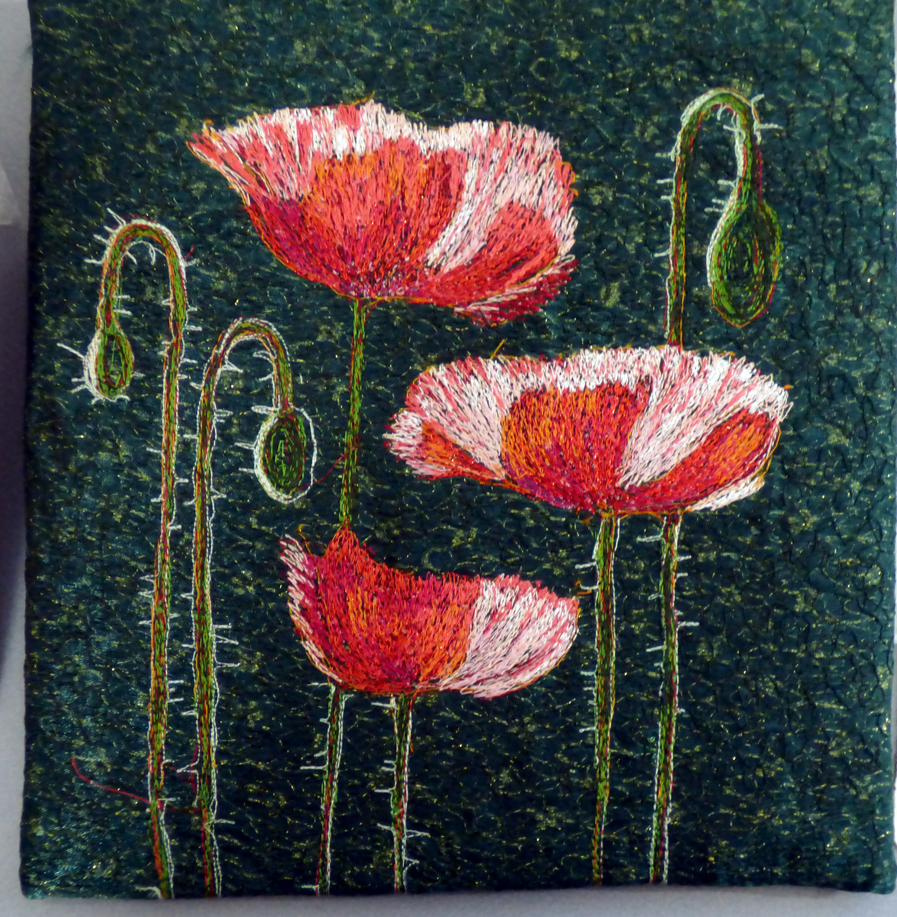 POPPIES embroidery by Richard Box