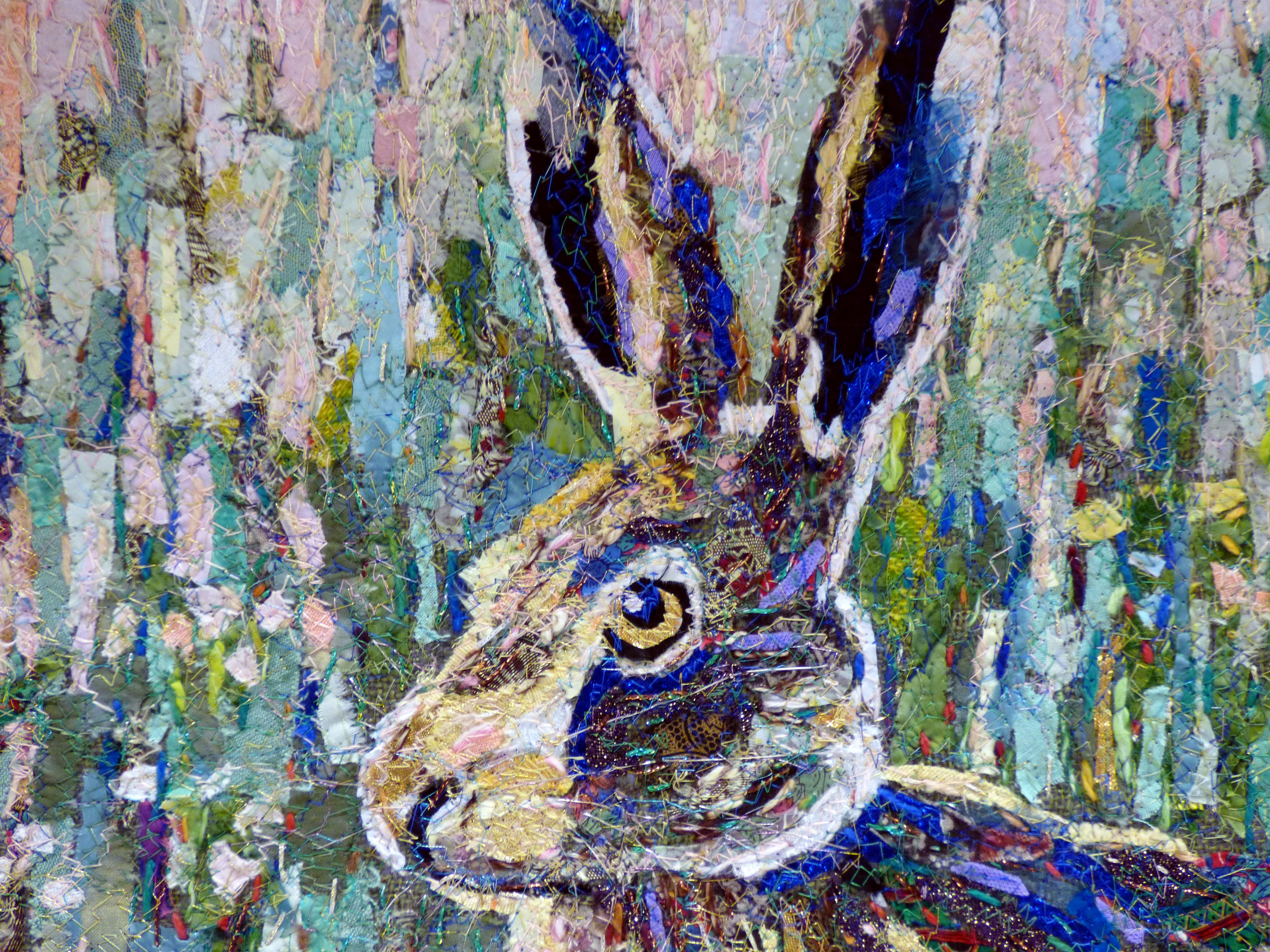 HARE embroidery by Richard Box