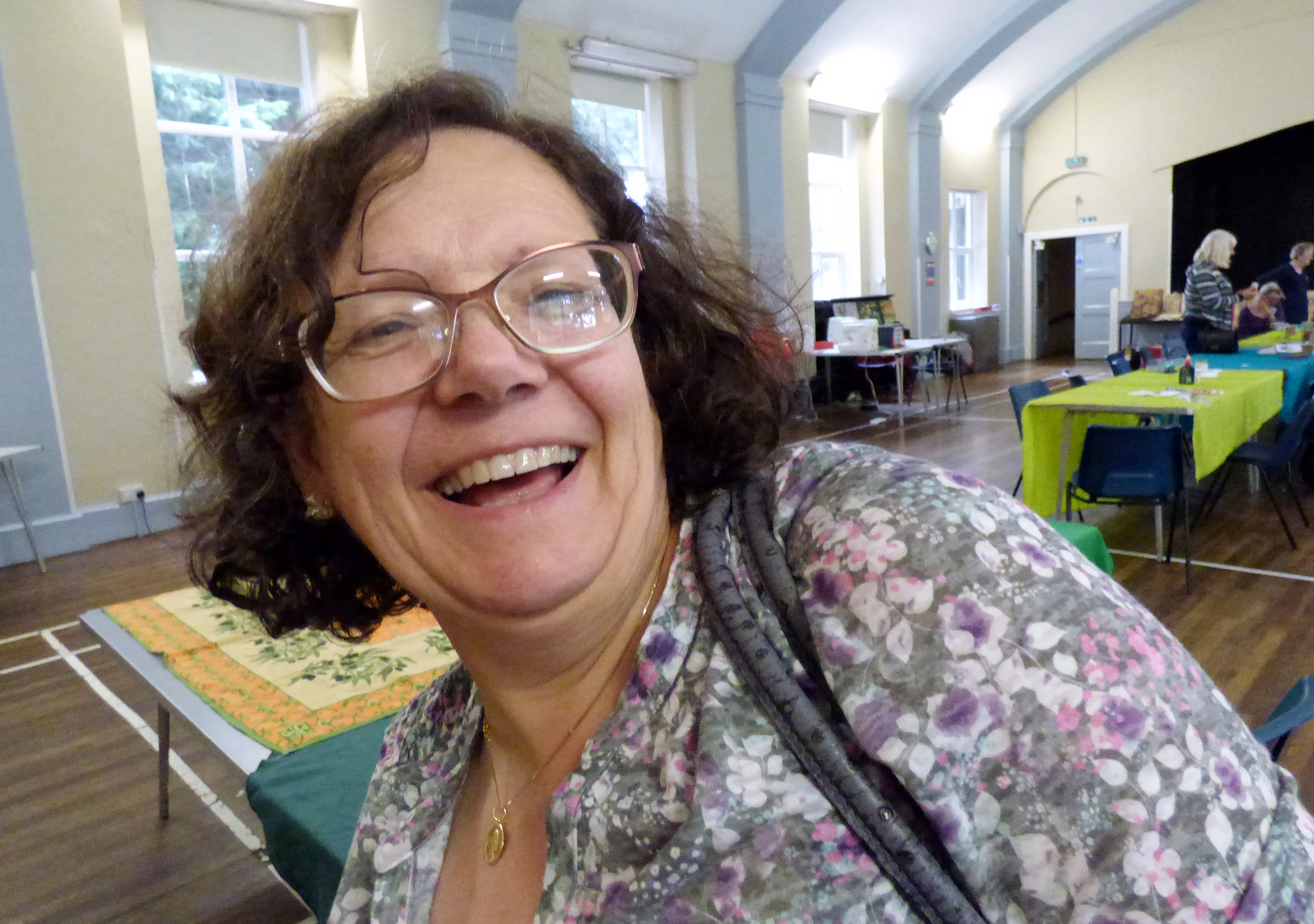 """one of our visitors from Altrincham at Richard Box """"Daisies"""" Workshop, August 2016"""