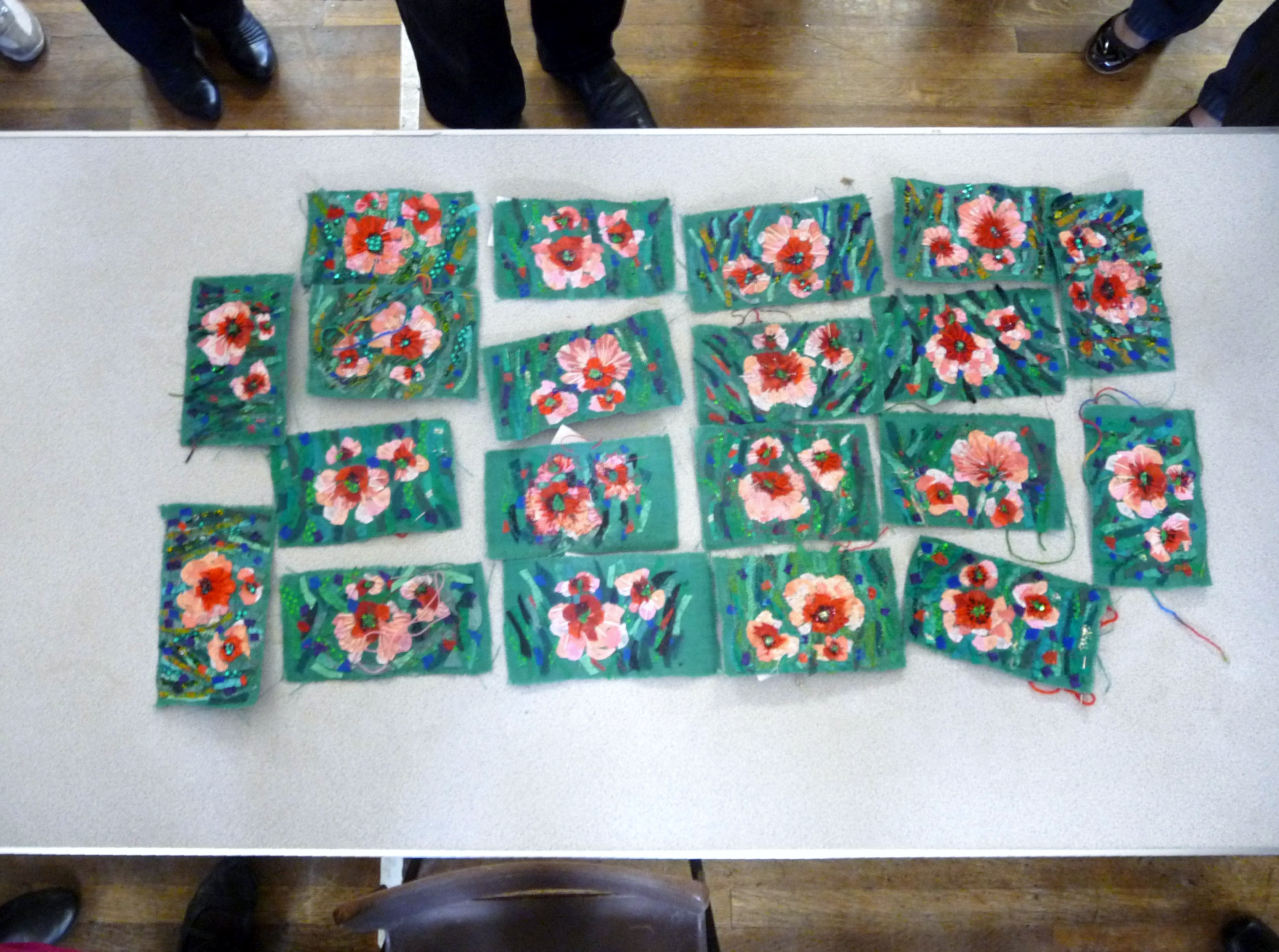 """Richard Box ""Poppies"" workshop at MEG, at the end of the day"