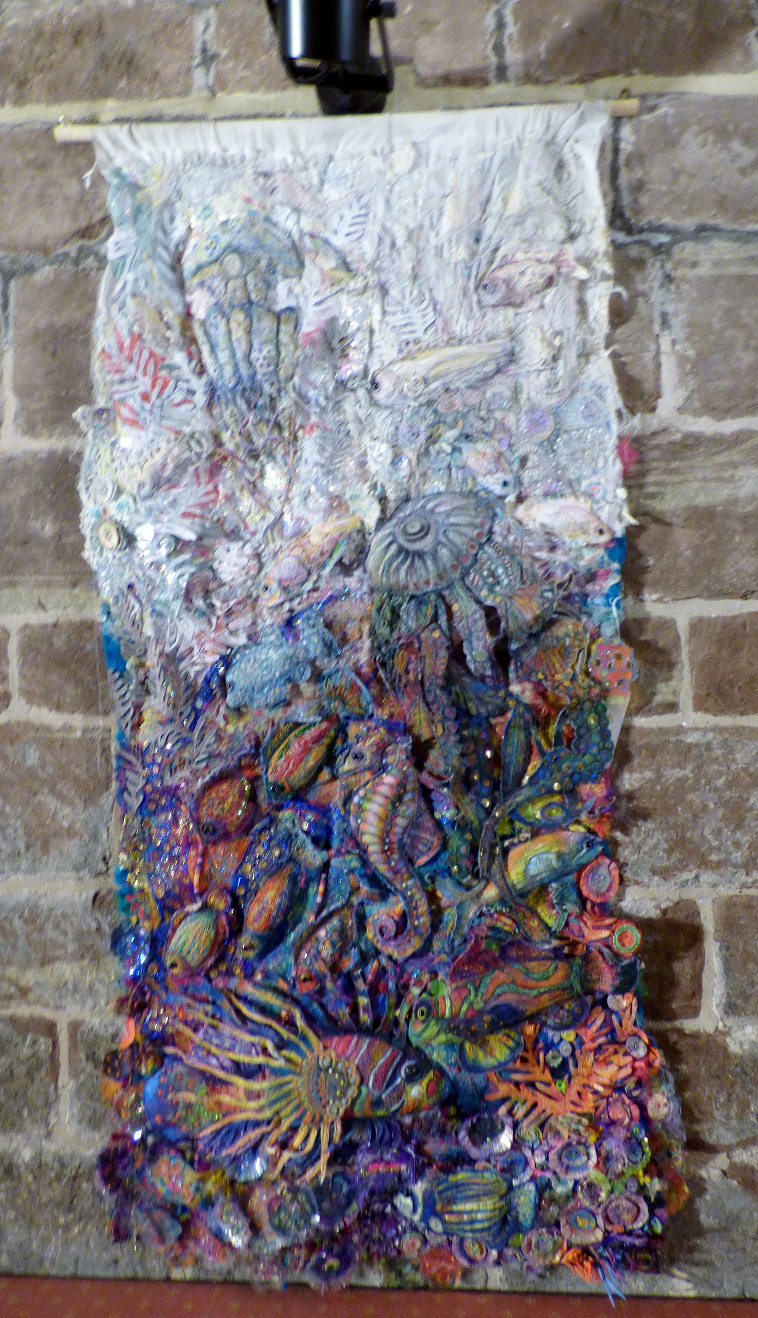 FADE OUT by Nikki Parmenter, mixed media, On The Edge Of exhibition, Chester Cathedral 2019